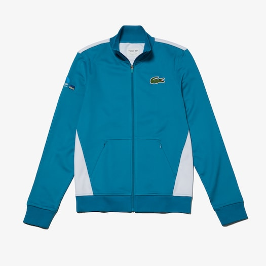 라코스테 Lacoste Mens SPORT Miami Open Edition Jacket,Turquoise / White - J63 (Selected colour)