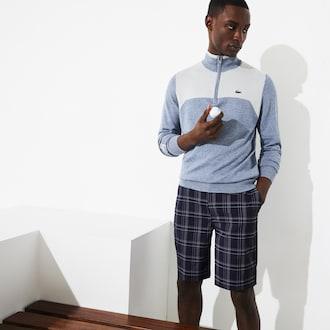 라코스테 스포츠 골프 반바지 Lacoste Mens SPORT Stretch Golf Bermudas,Navy Blue / White