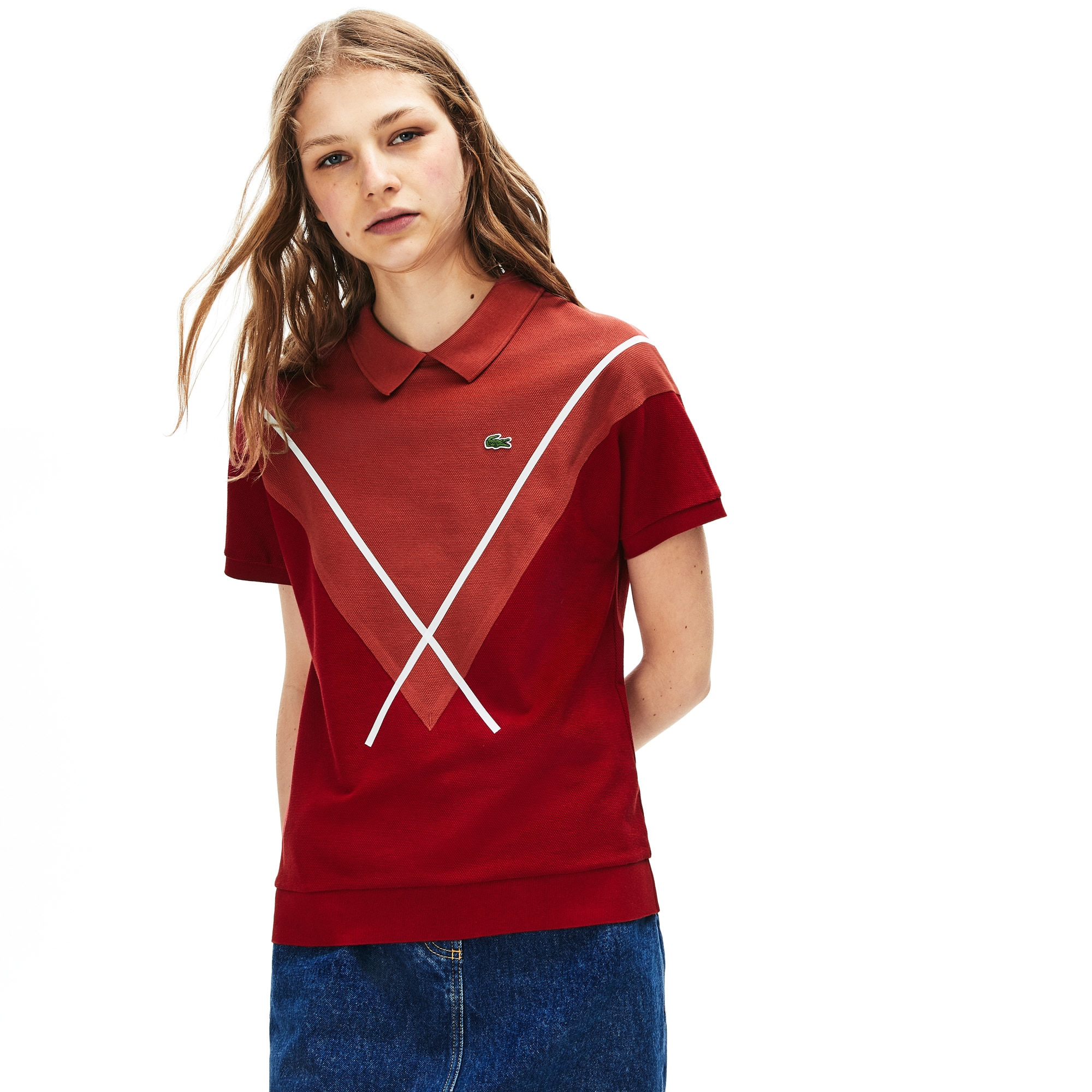 Women's Made In France Jacquard Piqué Polo Shirt