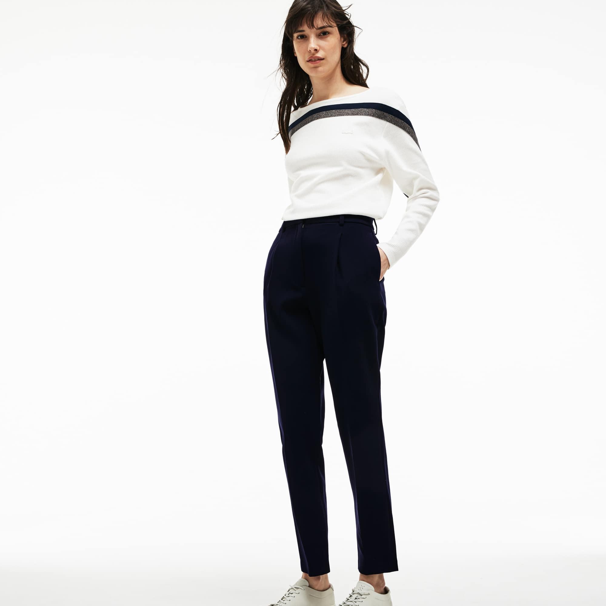 9ff202d86 Women's Slim Fit Stretch Cotton Gabardine Carrot Pants | LACOSTE