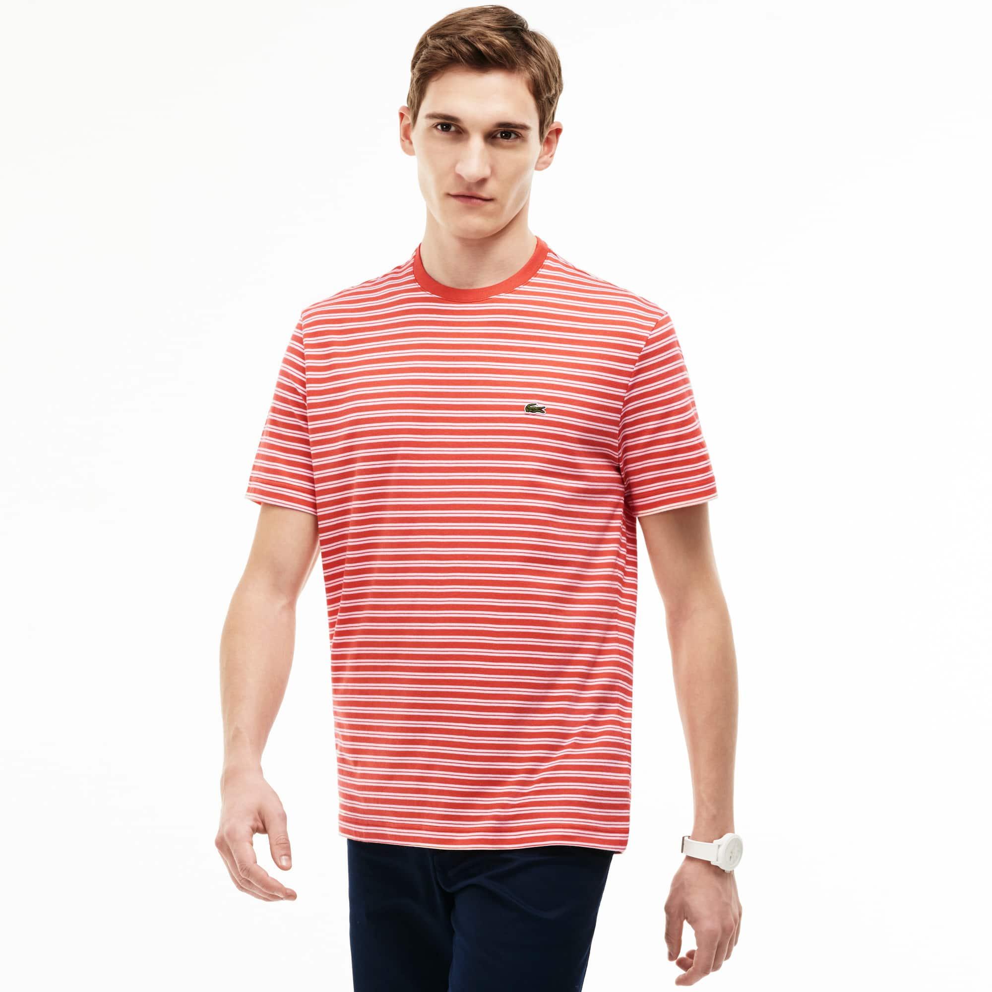 Men's Stripe Crewneck Jersey T-Shirt