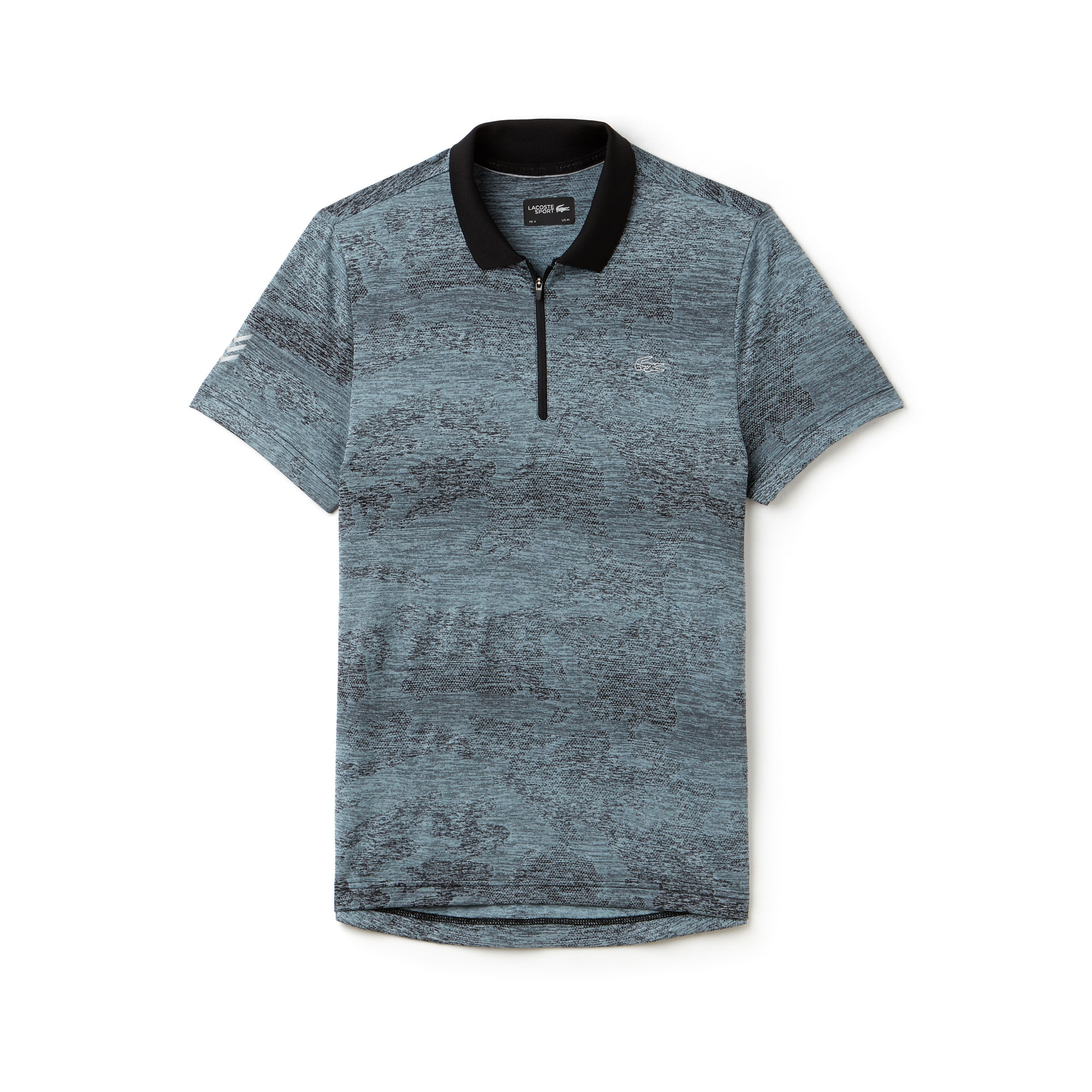 Men's SPORT Zip Neck Print Tennis Polo