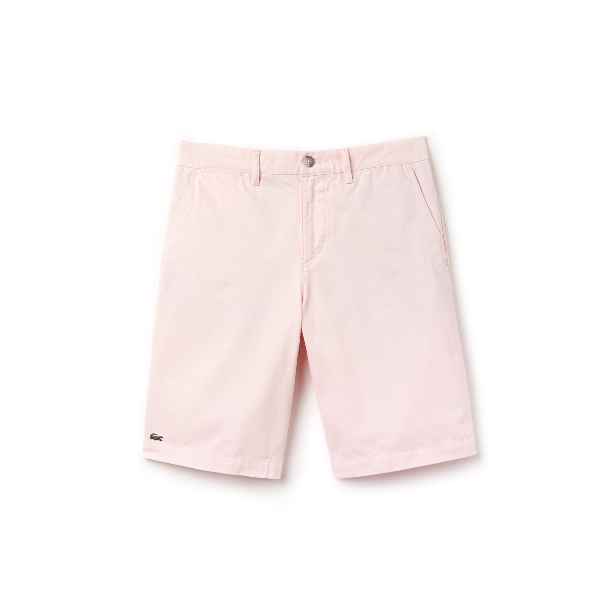 라코스테 반바지 Lacoste Mens Regular Fit Bermuda Shorts,flamingo