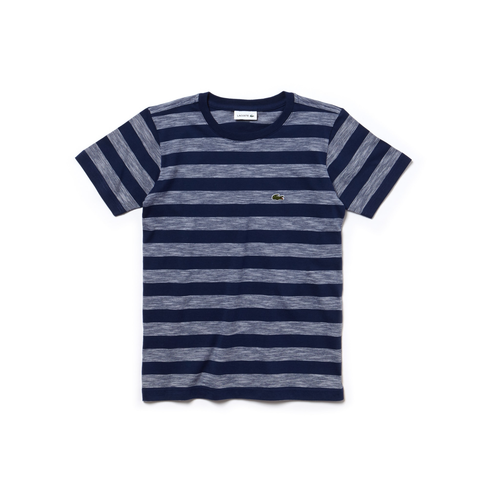 Boys' Crew Neck Striped Cotton T-Shirt