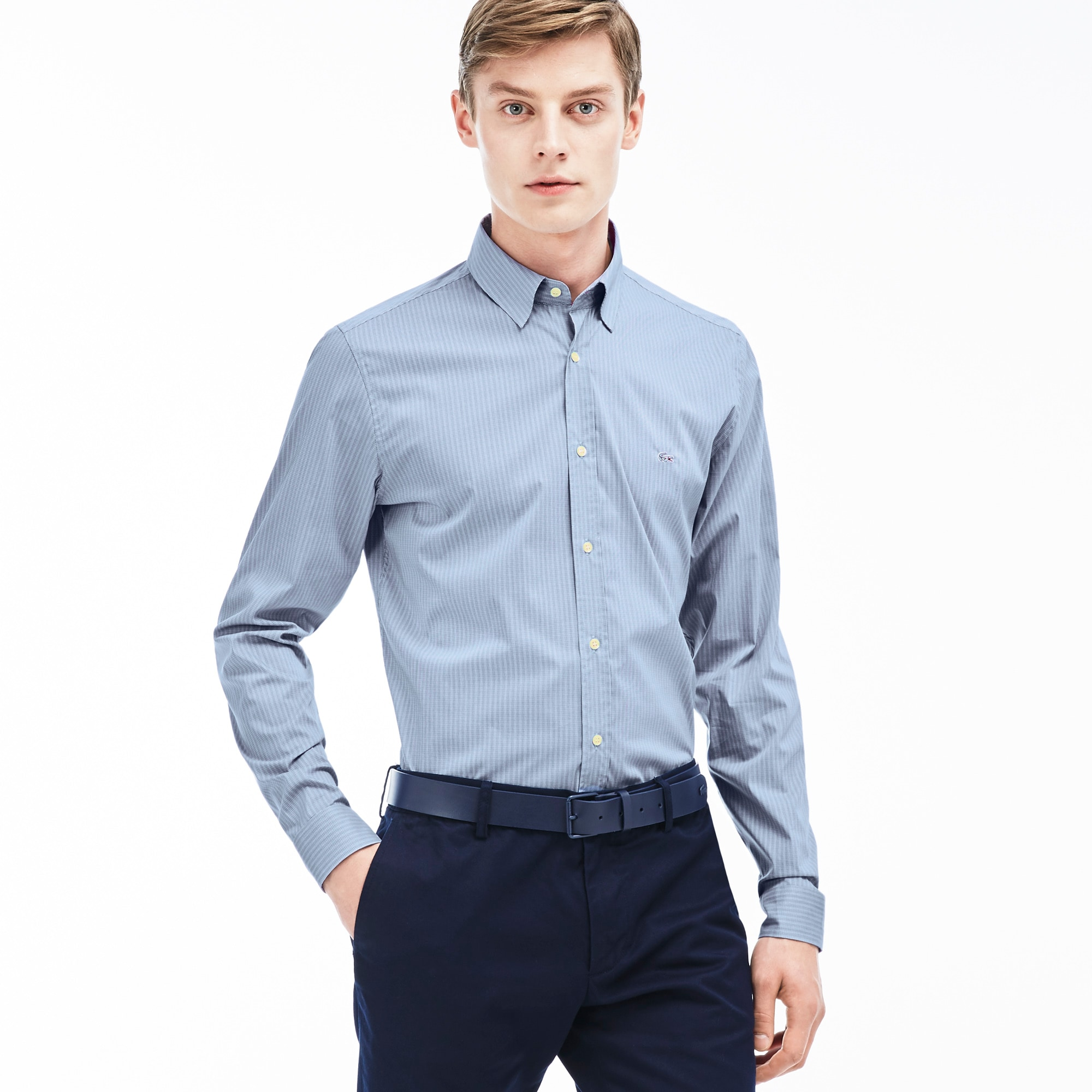 Men's Check Poplin Woven Shirt