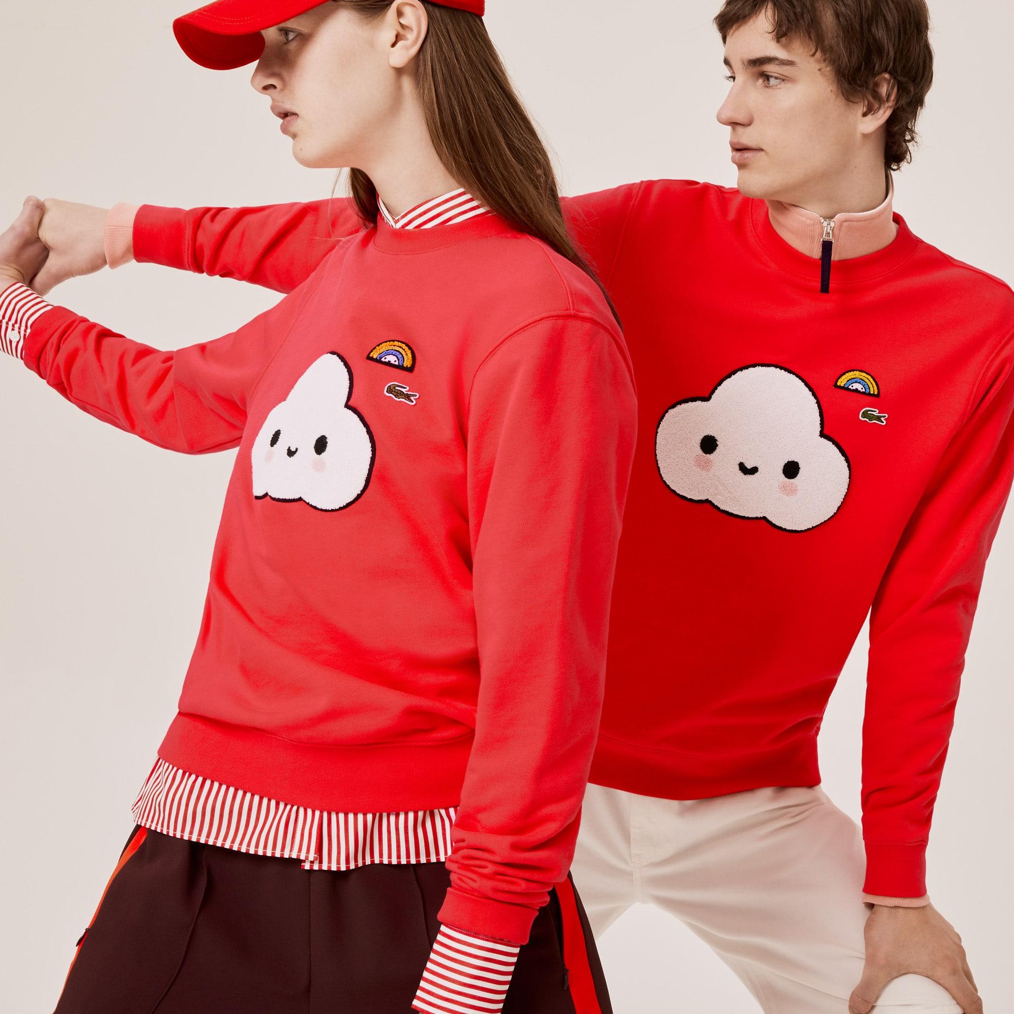 Unisex 라코스테 Lacoste x FriendsWithYou Print Sweatshirt,Red 4BY