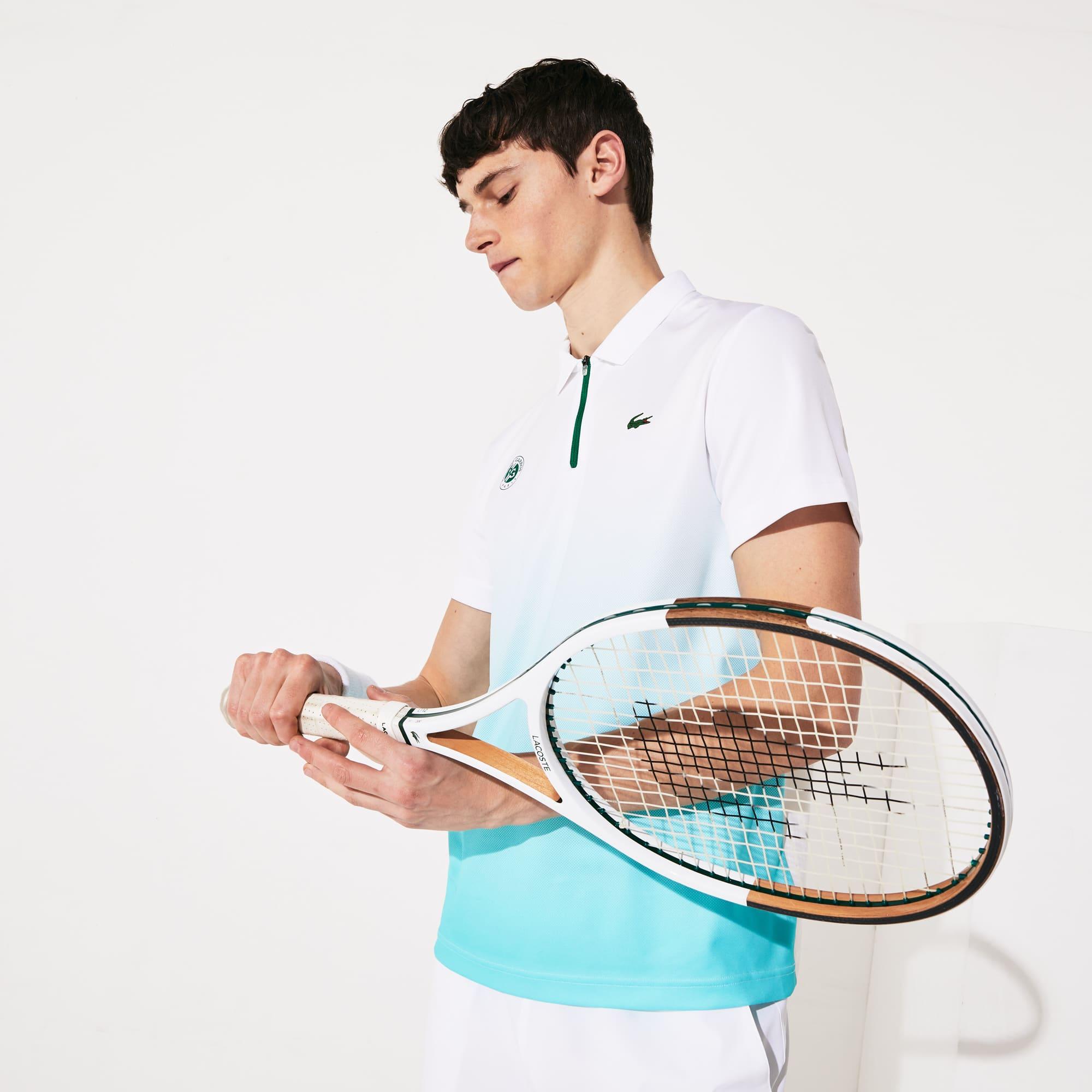 라코스테 스포츠 롤랑가로스 노박 조코비치 폴로셔츠 Lacoste Mens SPORT Roland Garros Zip-Front Performance Polo Shirt