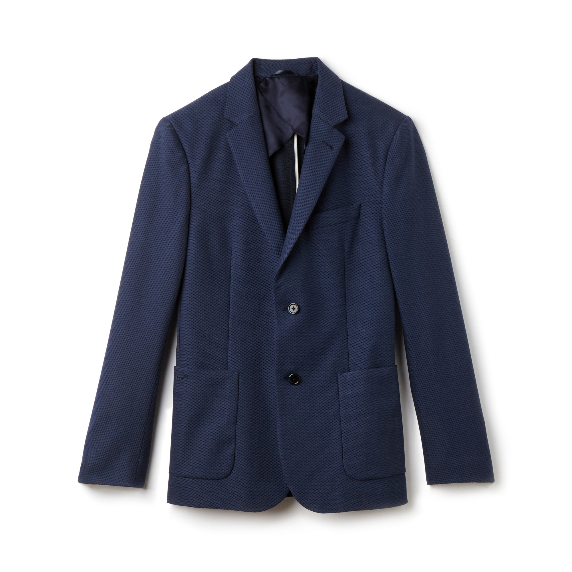 Men's 2-Button Cotton Blend Piqué Suit Jacket