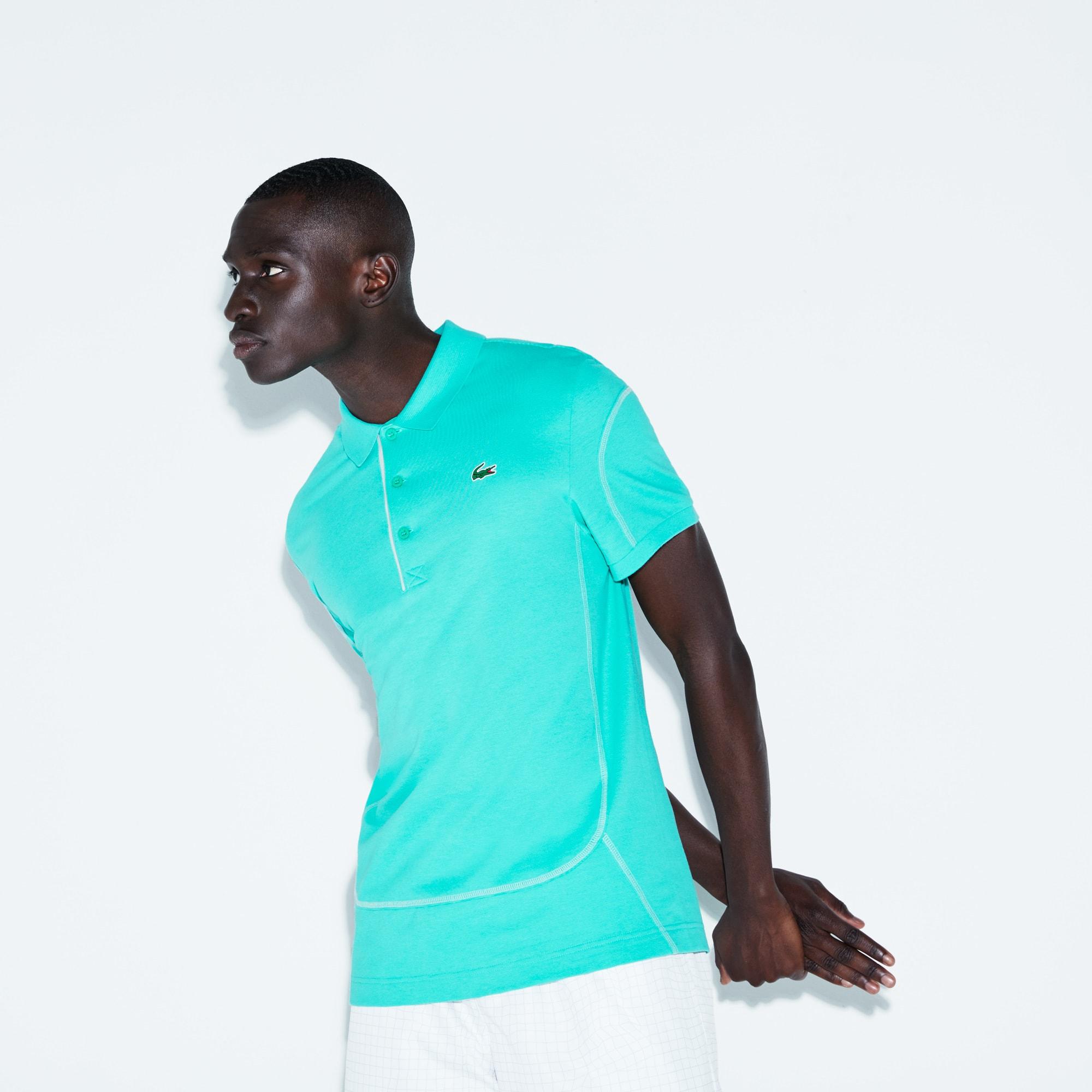Men's SPORT Contrast Stitching Light Cotton Tennis Polo
