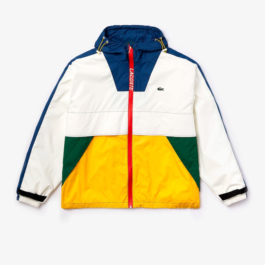 Unisex Lacoste LIVE Hooded Zippered Colourblock Windbreaker