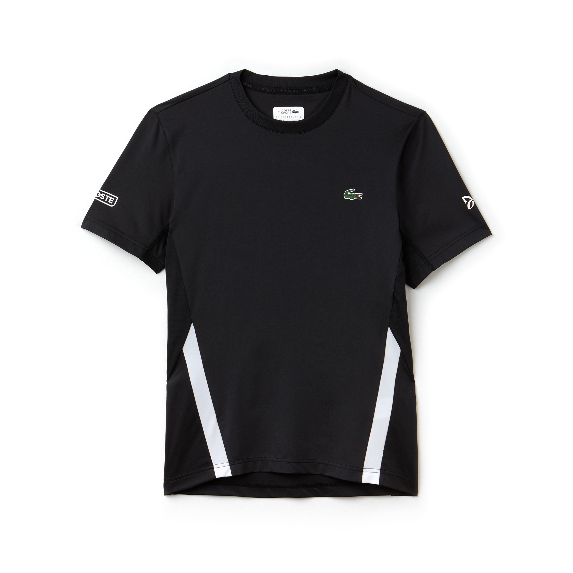 Men's SPORT Crew Neck Stretch Technical Jersey T-shirt - Lacoste x Novak Djokovic Off Court Premium Edition