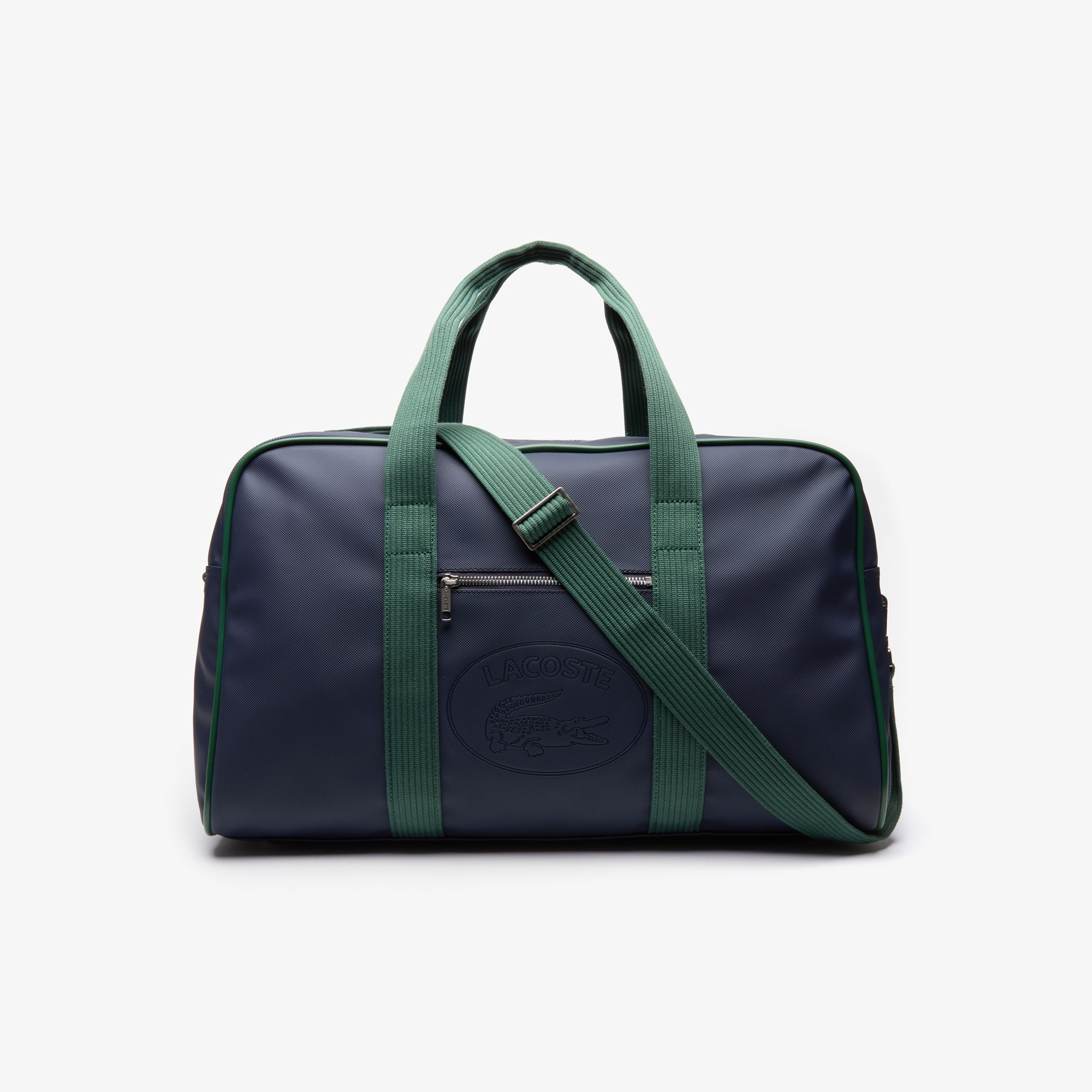 라코스테 1930년대 레터링 위켄드백 Lacoste Mens 1930s Original Embossed Lettering Weekend Bag,PEACOAT GREEN