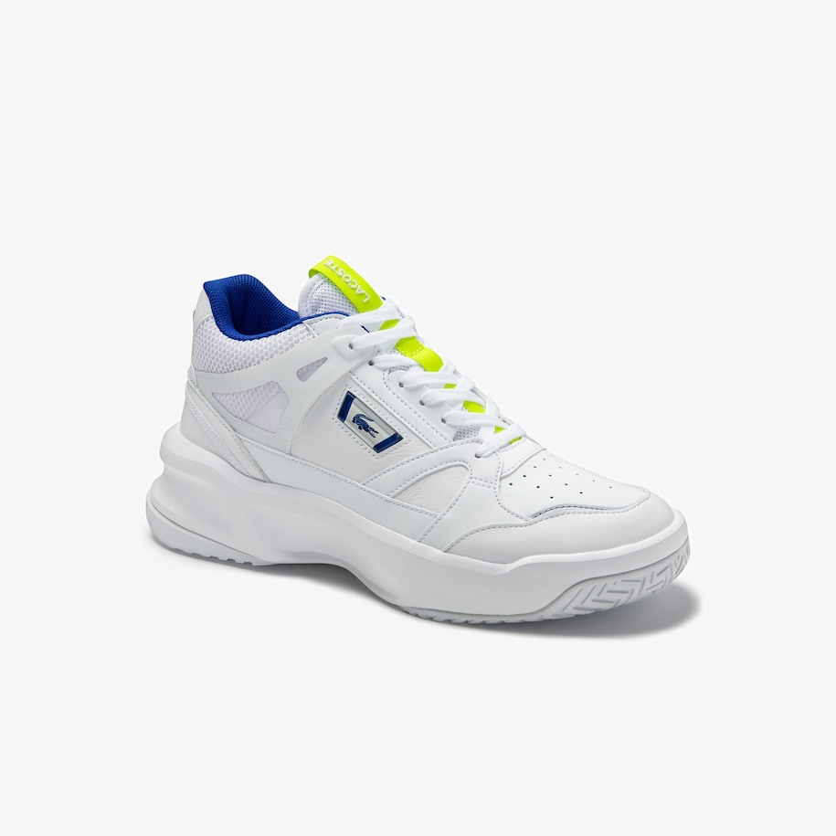 Women's Ace Lift Mid Perforated Leather and Textile Sneakers