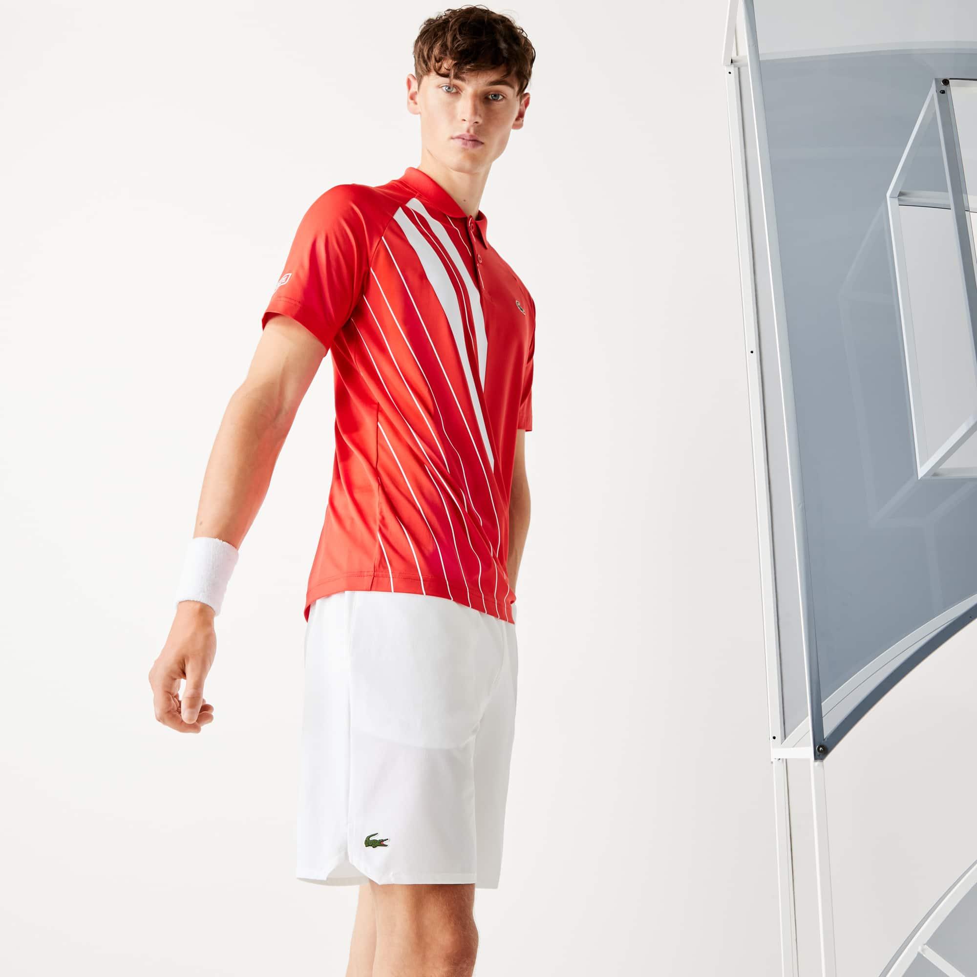 라코스테 Lacoste Mens SPORT x Novak Djokovic Stretch Taffeta Shorts