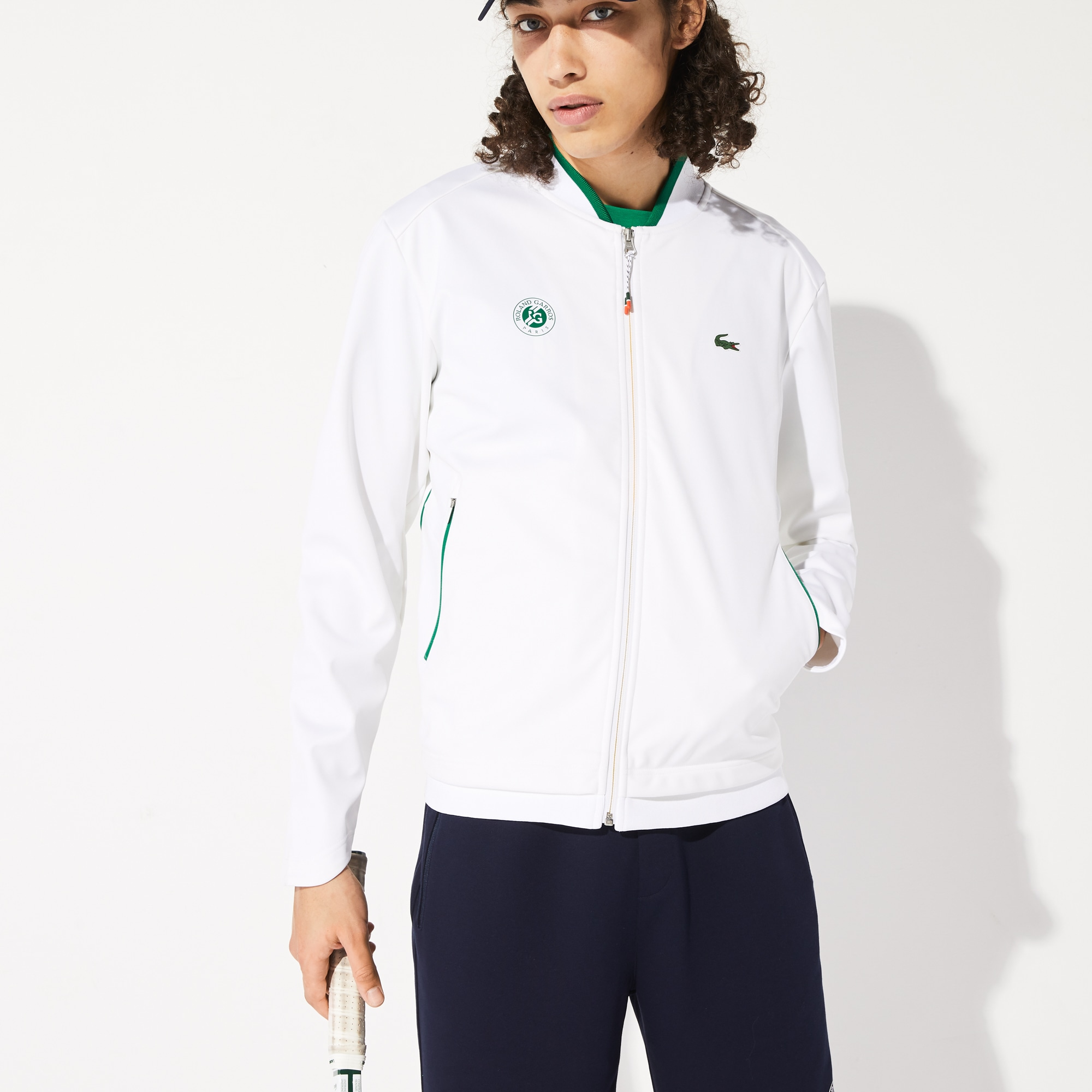 라코스테 스포츠 롤랑가로스 자켓 Lacoste Mens SPORT Roland Garros Pique Zip-Up Jacket