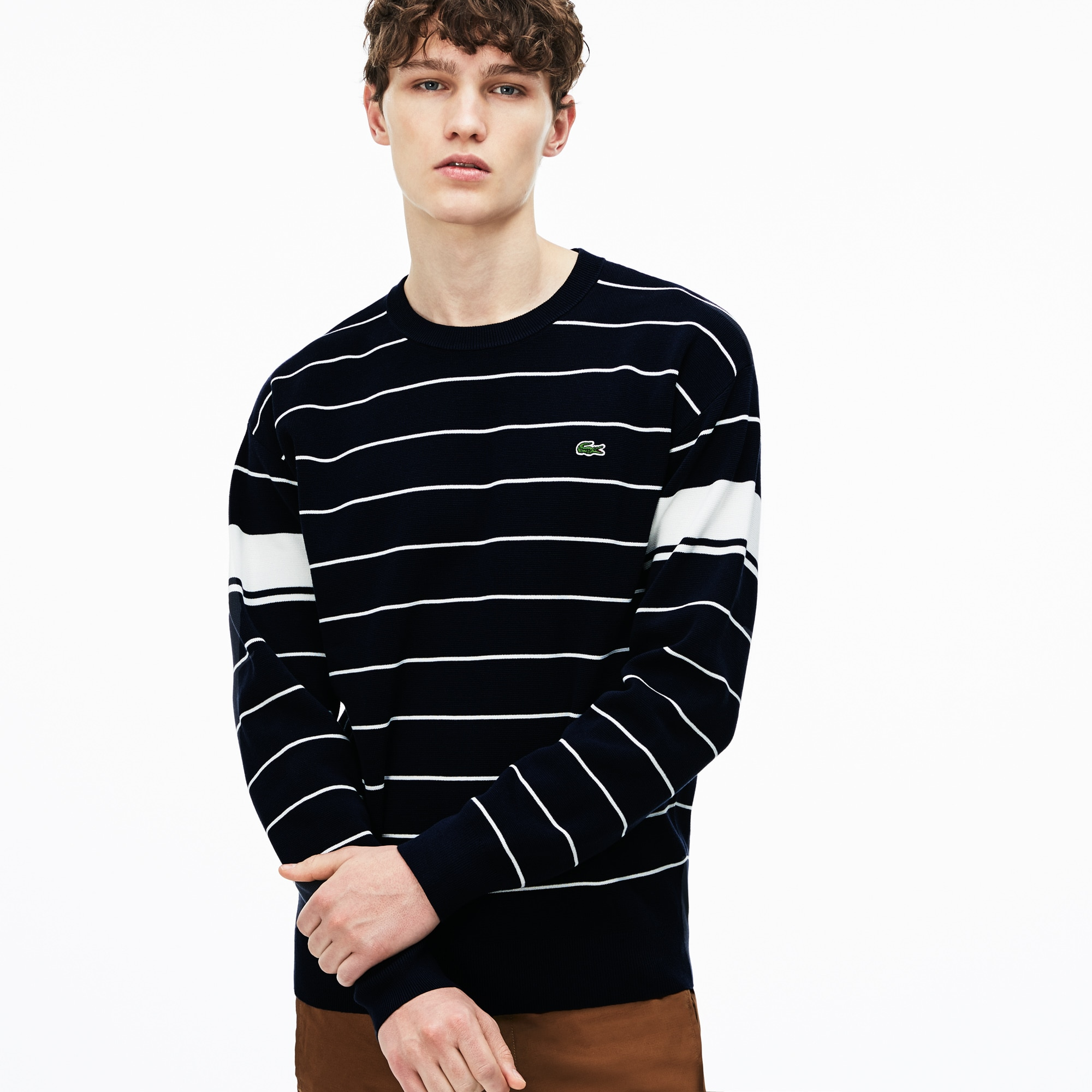 Men's Crew Neck Striped Milano Sweater