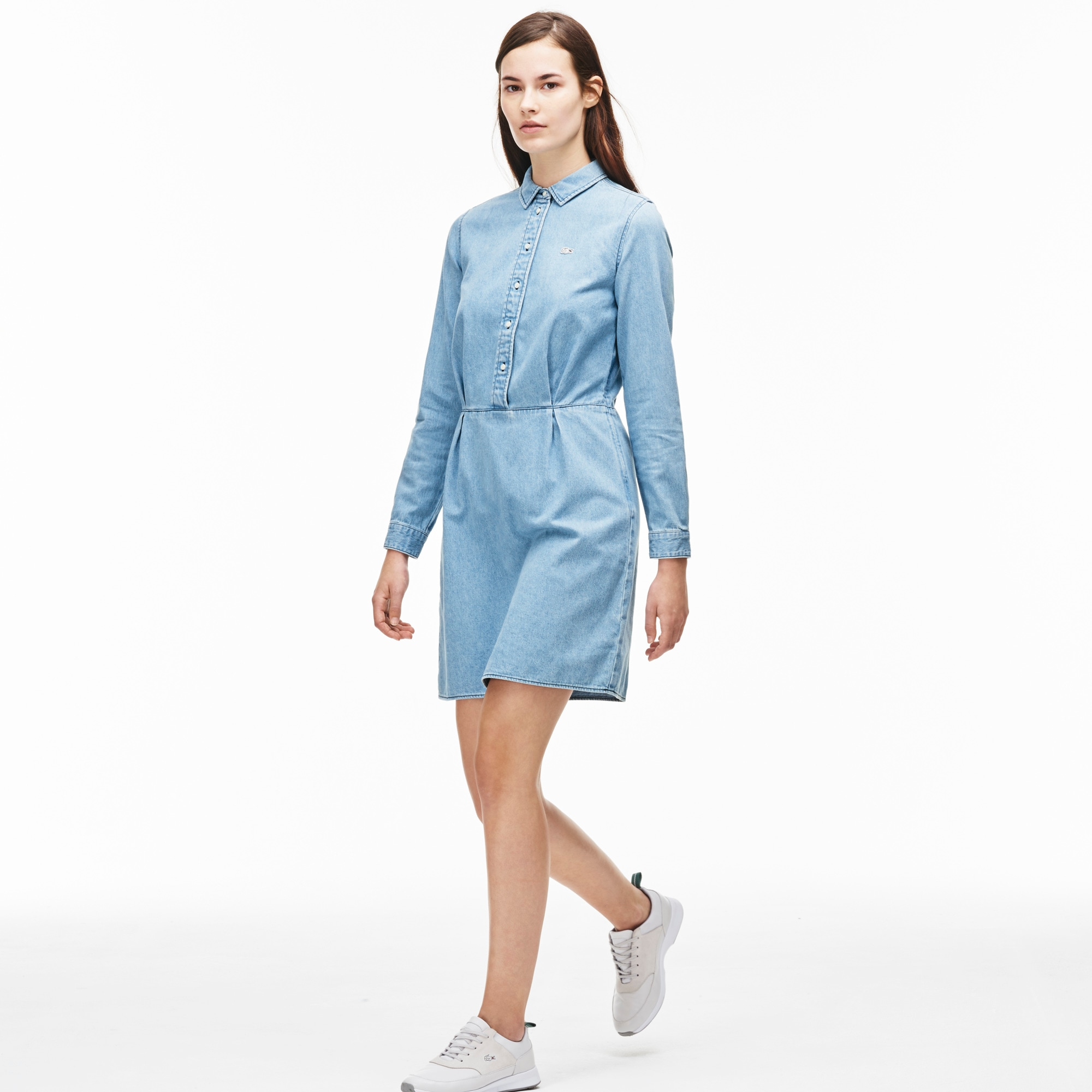 Women's L!VE Fitted Denim Shirt Dress