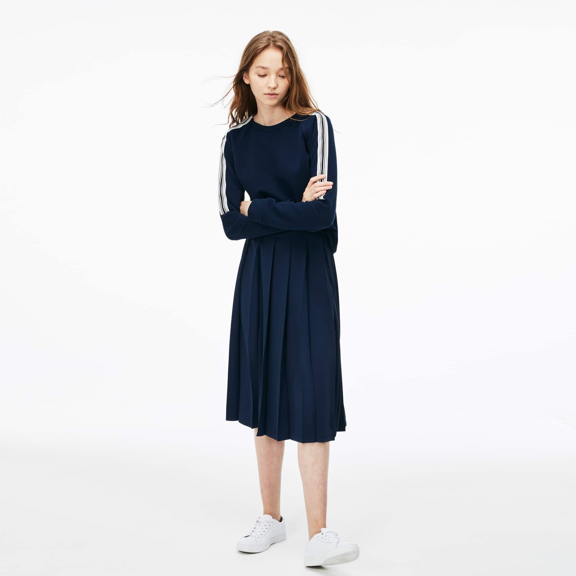 Women's Long Pleated Mousseline Skirt