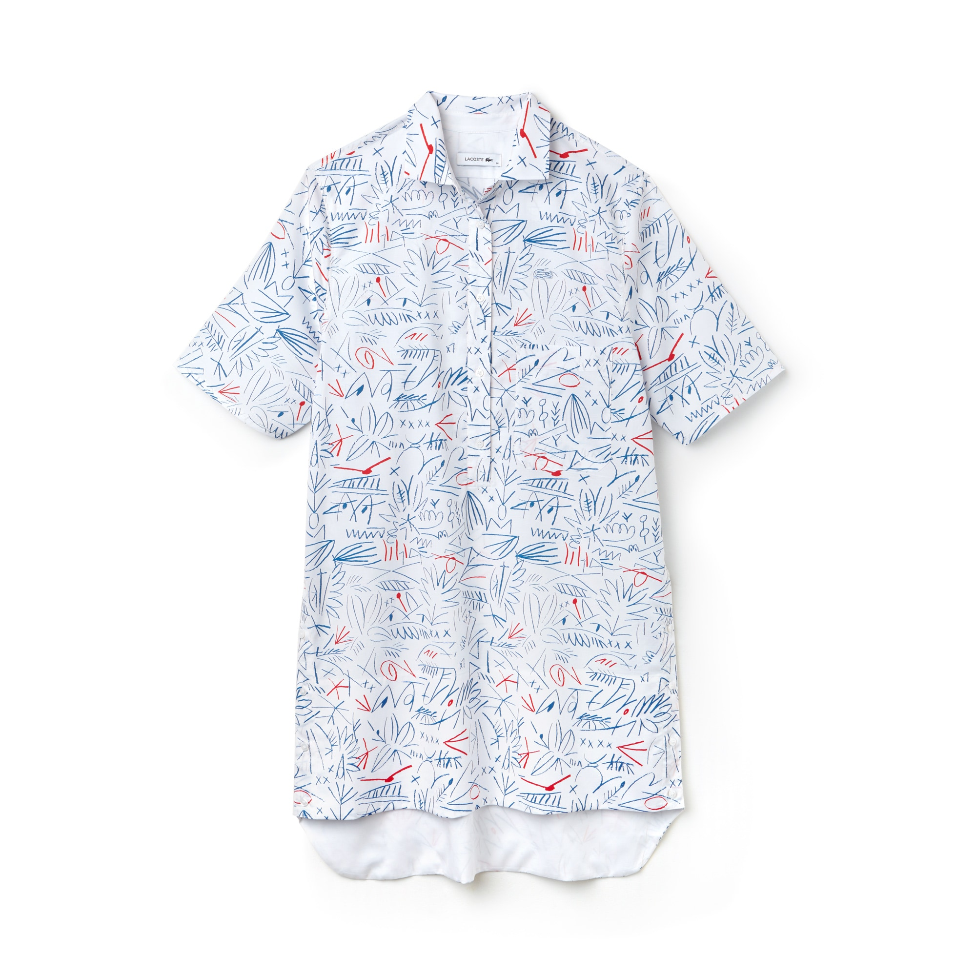 Women's Print Cotton Twill Shirt Dress