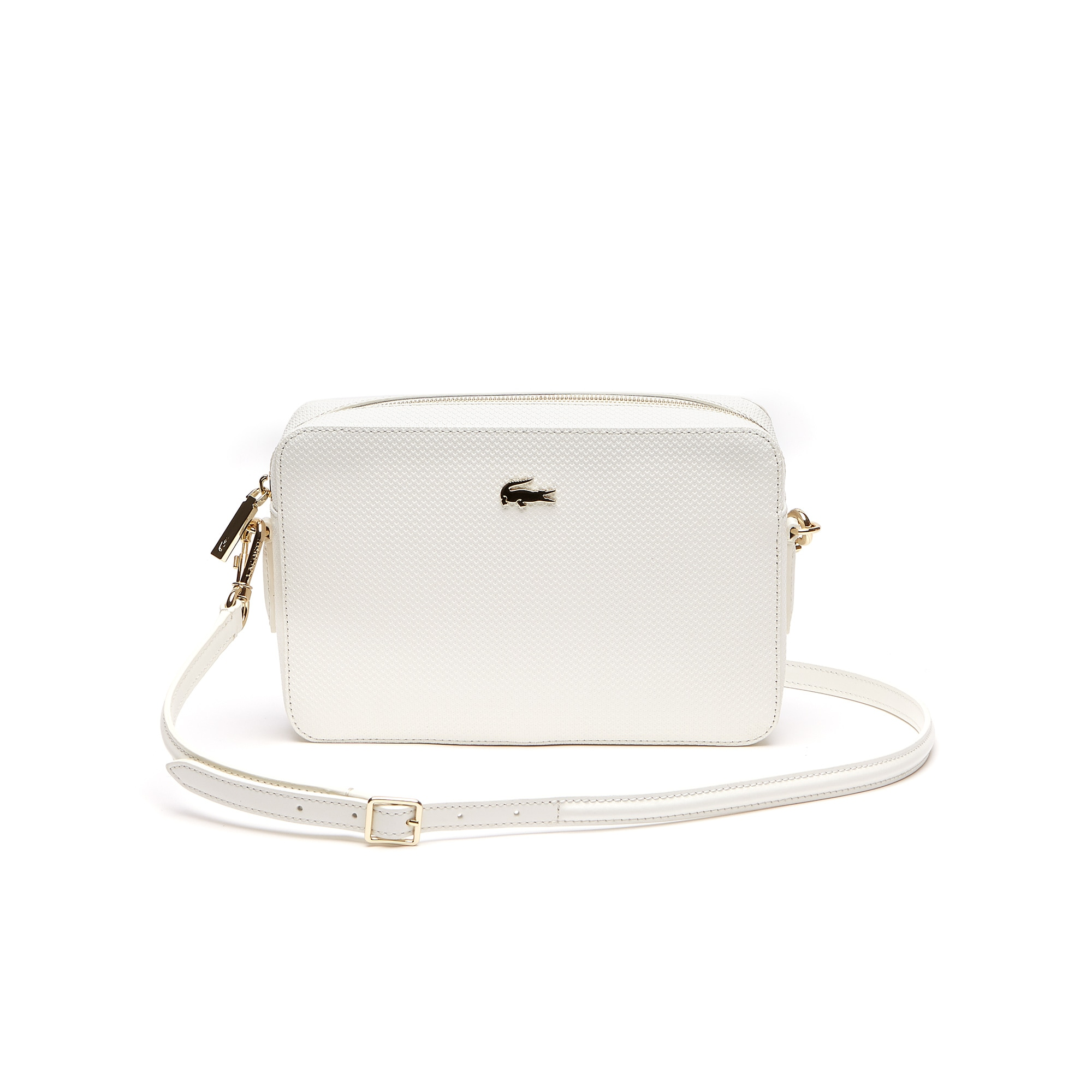 a5160a1965c59 Lacoste Women S Chantaco PiquÉ Leather Square Crossover Bag In Marshmallow