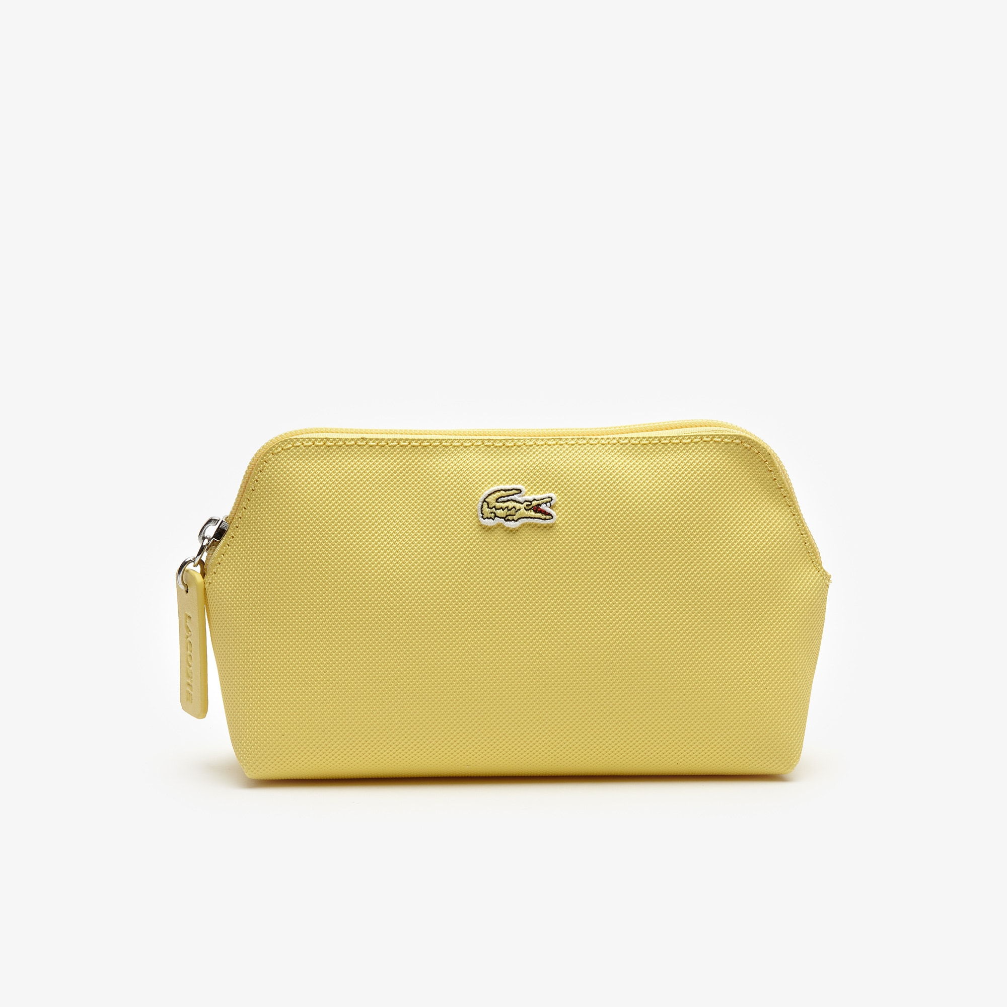 라코스테 Lacoste Womens L.12.12 Concept Petit Pique Makeup Bag,pale banana