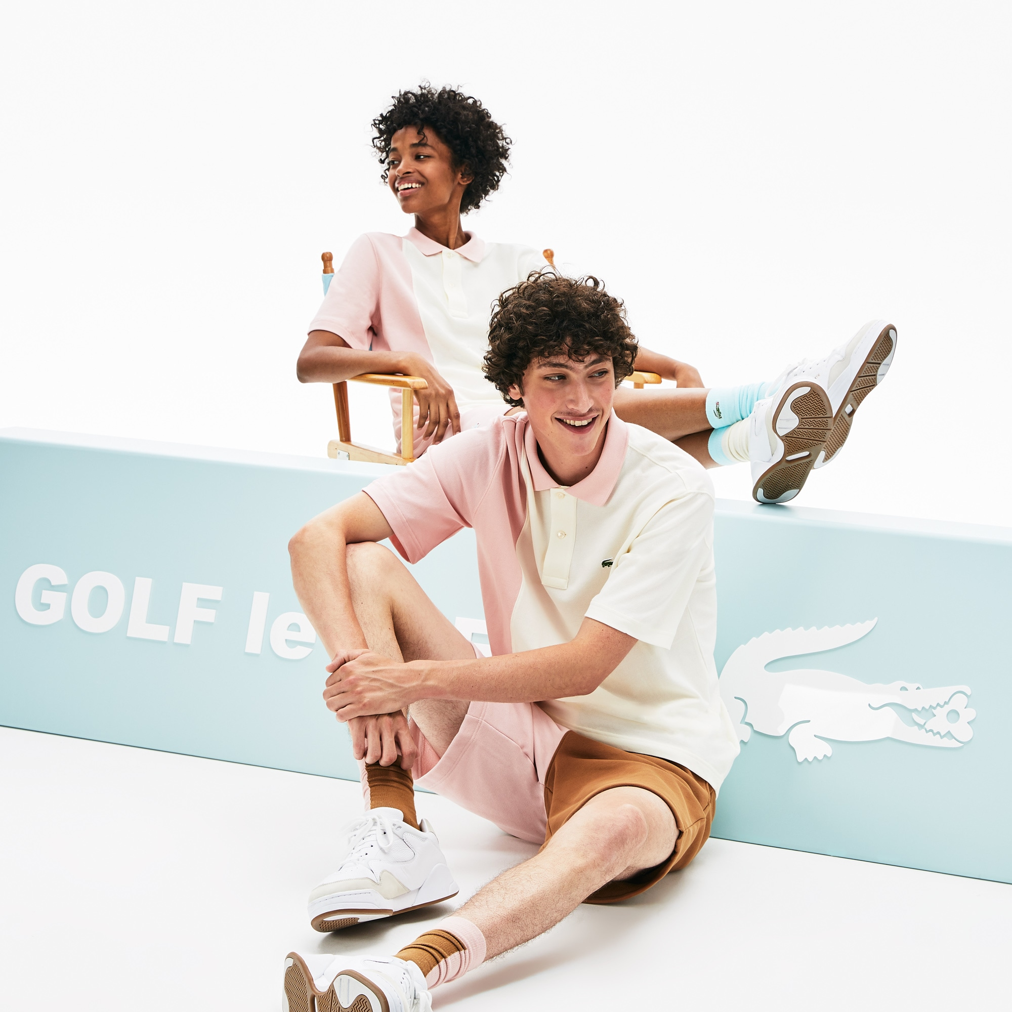 Lacoste Tops Lacoste x GOLF le FLEUR Relaxed Color-Blocked Polo