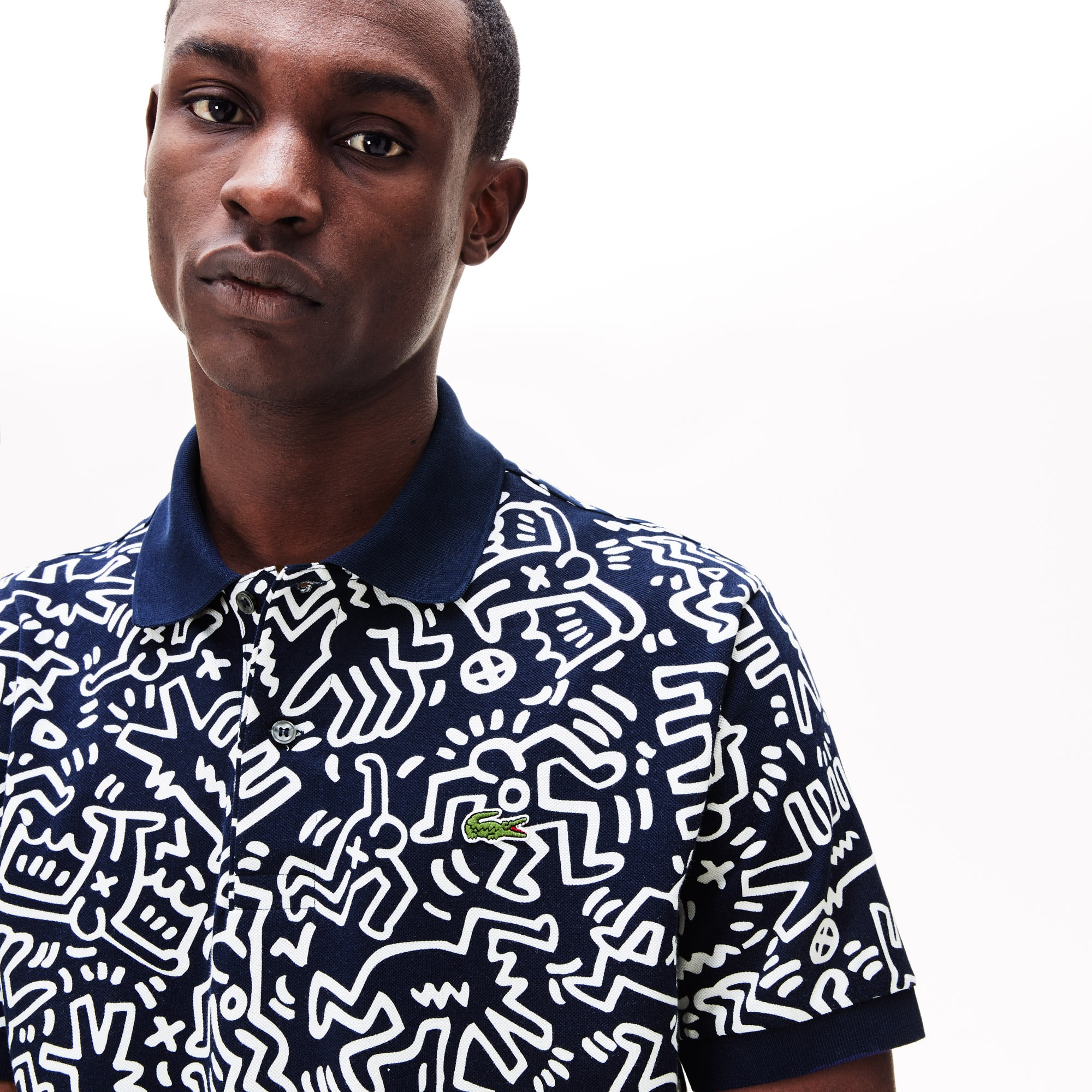 Men's Keith Haring Print Piqué Polo