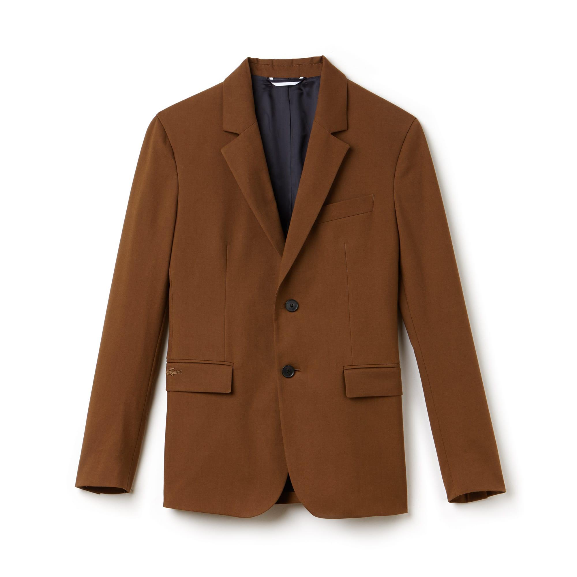 라코스테 Lacoste Mens Regular Fit Cotton Gabardine Jacket,dark renaissance brown