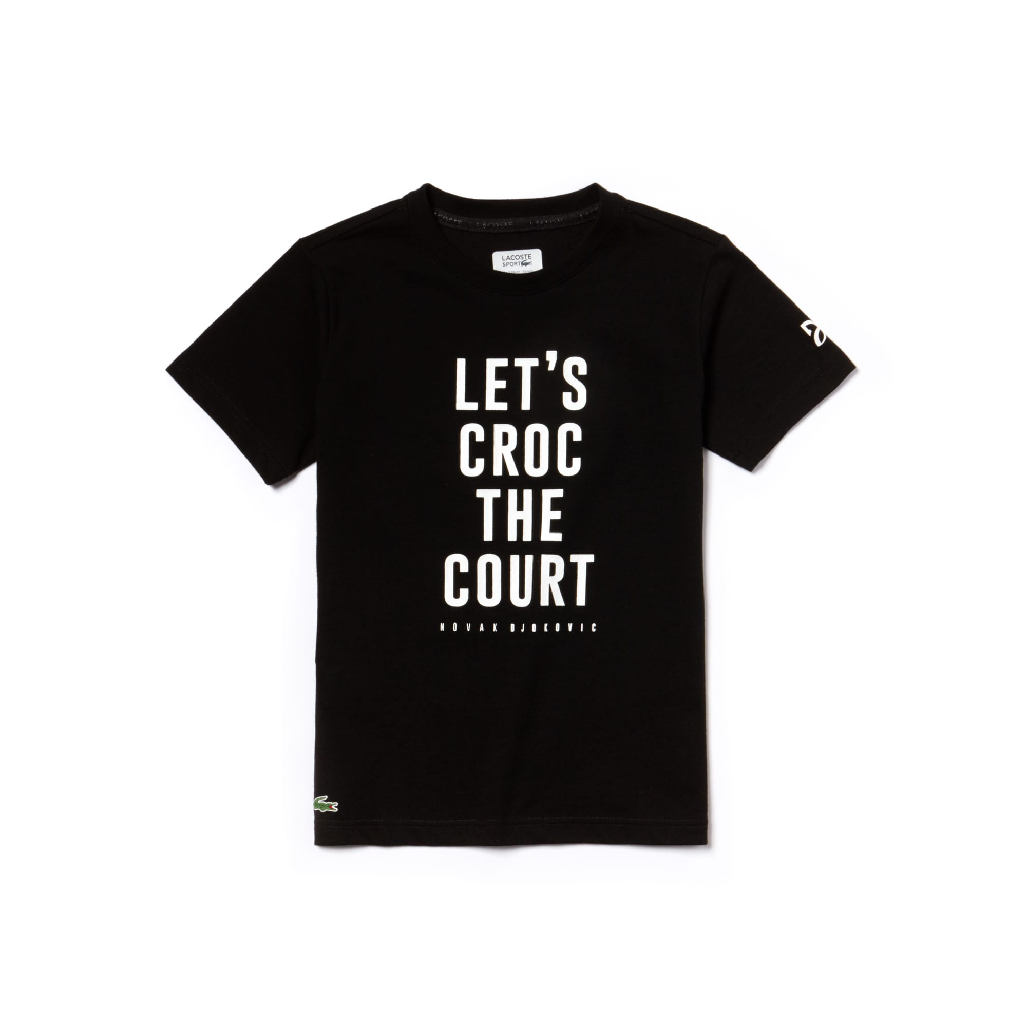 Boys' SPORT Lettering Technical Jersey T-shirt -  x Novak Djokovic Support With Style - Off Court Collection
