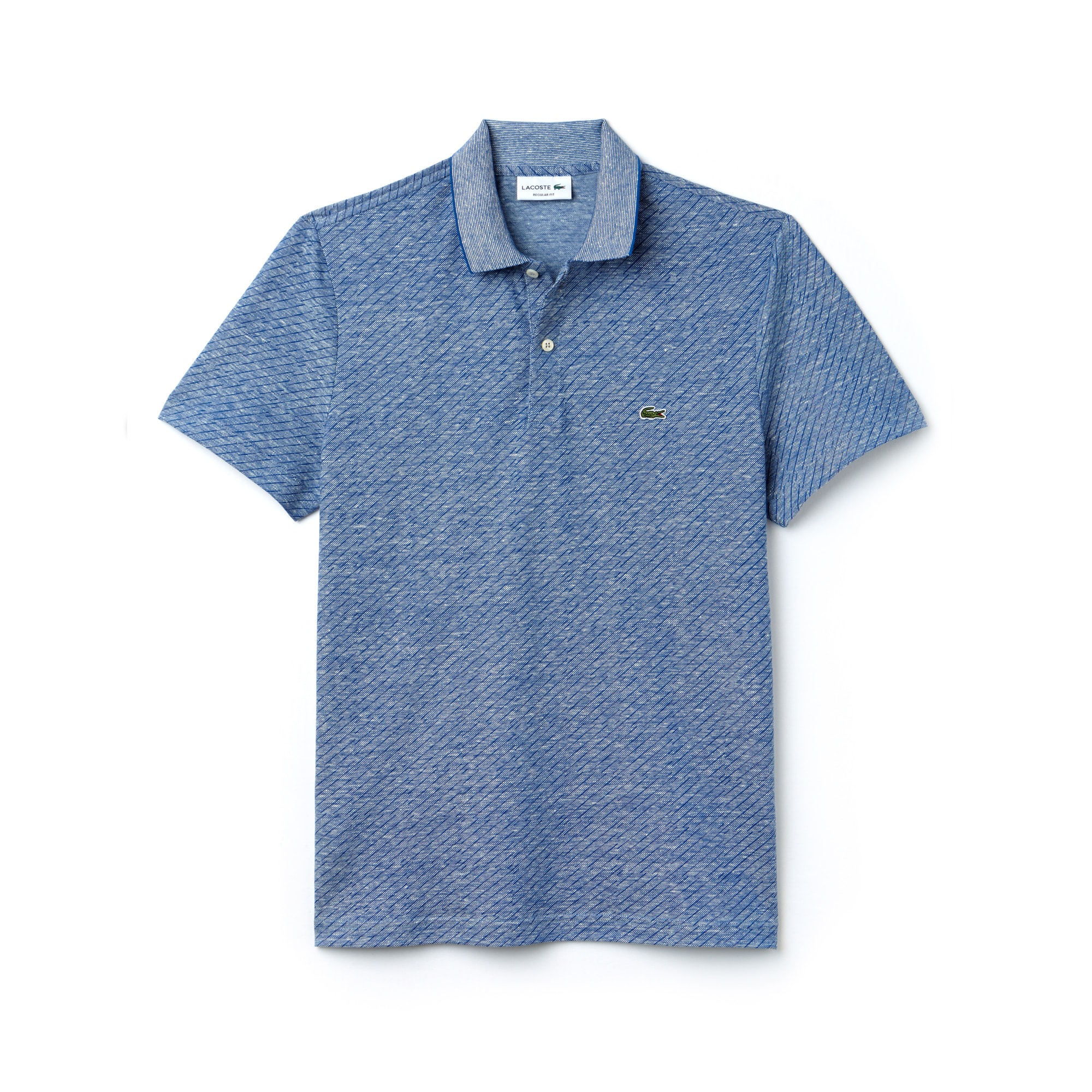 Men's Regular Fit Print Caviar Piqué Polo