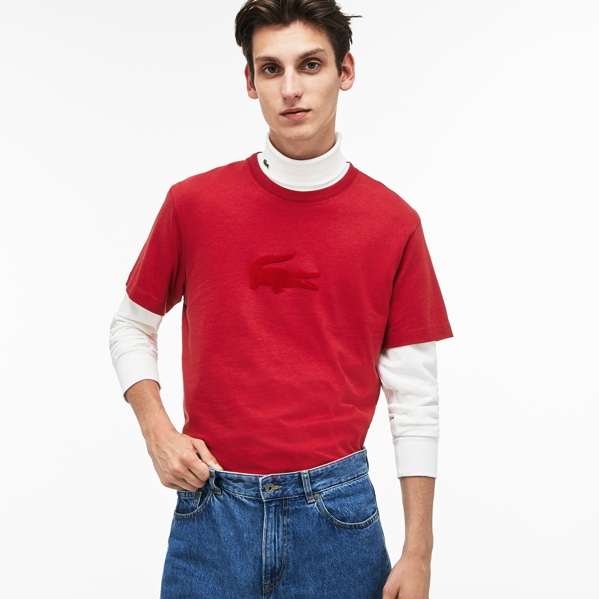 5e2f7a69ea Men's Crew Neck Oversized Crocodile T-Shirt