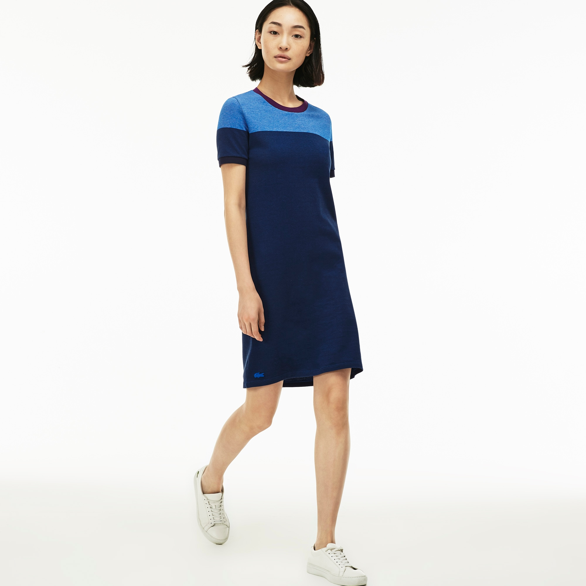 Women's Color Block Piqué  T-Shirt Dress