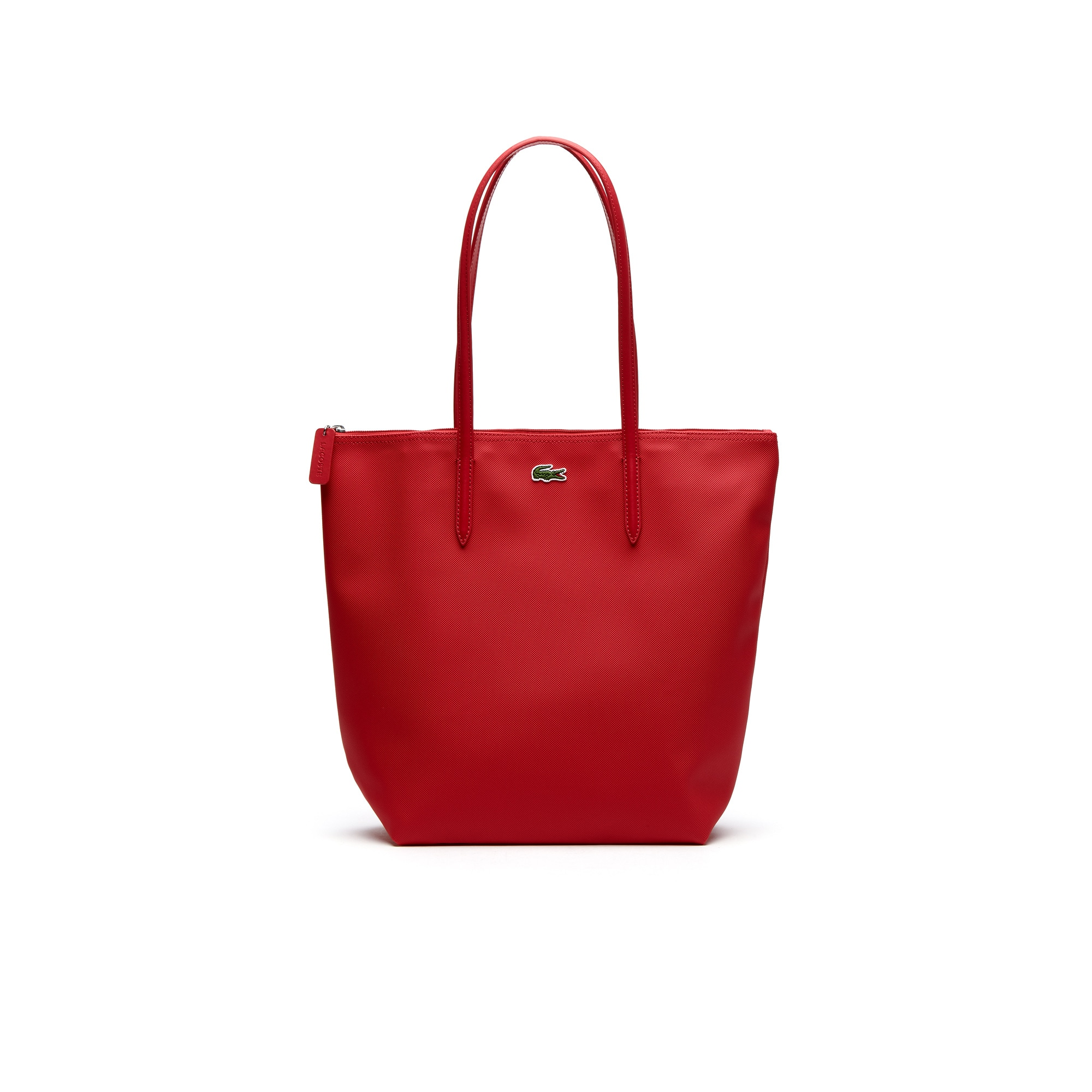 라코스테 Lacoste Womens L.12.12 Concept Vertical Zip Tote Bag,virtual pink