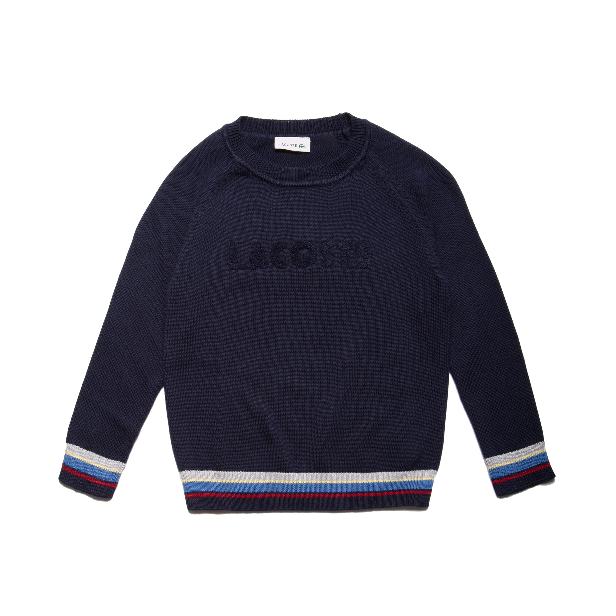 Boys' Crew Neck  Lettering Jersey Sweater