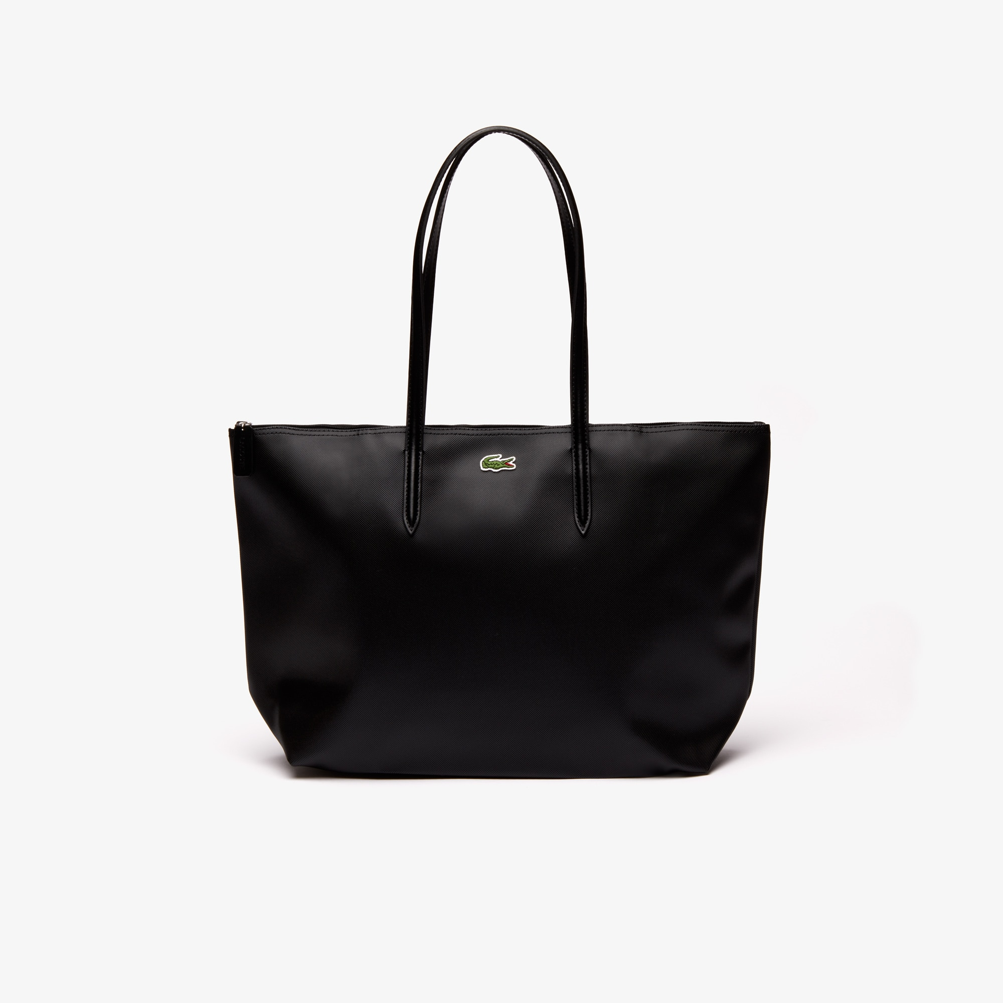 Women'S L.12.12 Concept Small Zip Tote Bag in Black from Lacoste