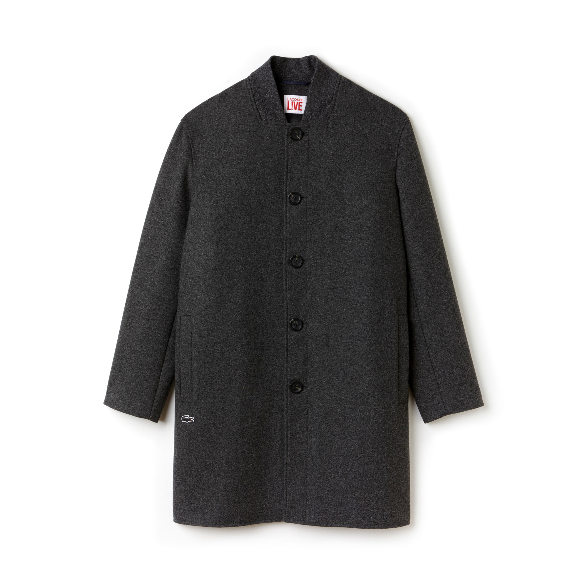 Unisex Lacoste LIVE Oversized Wool Broadcloth Coat
