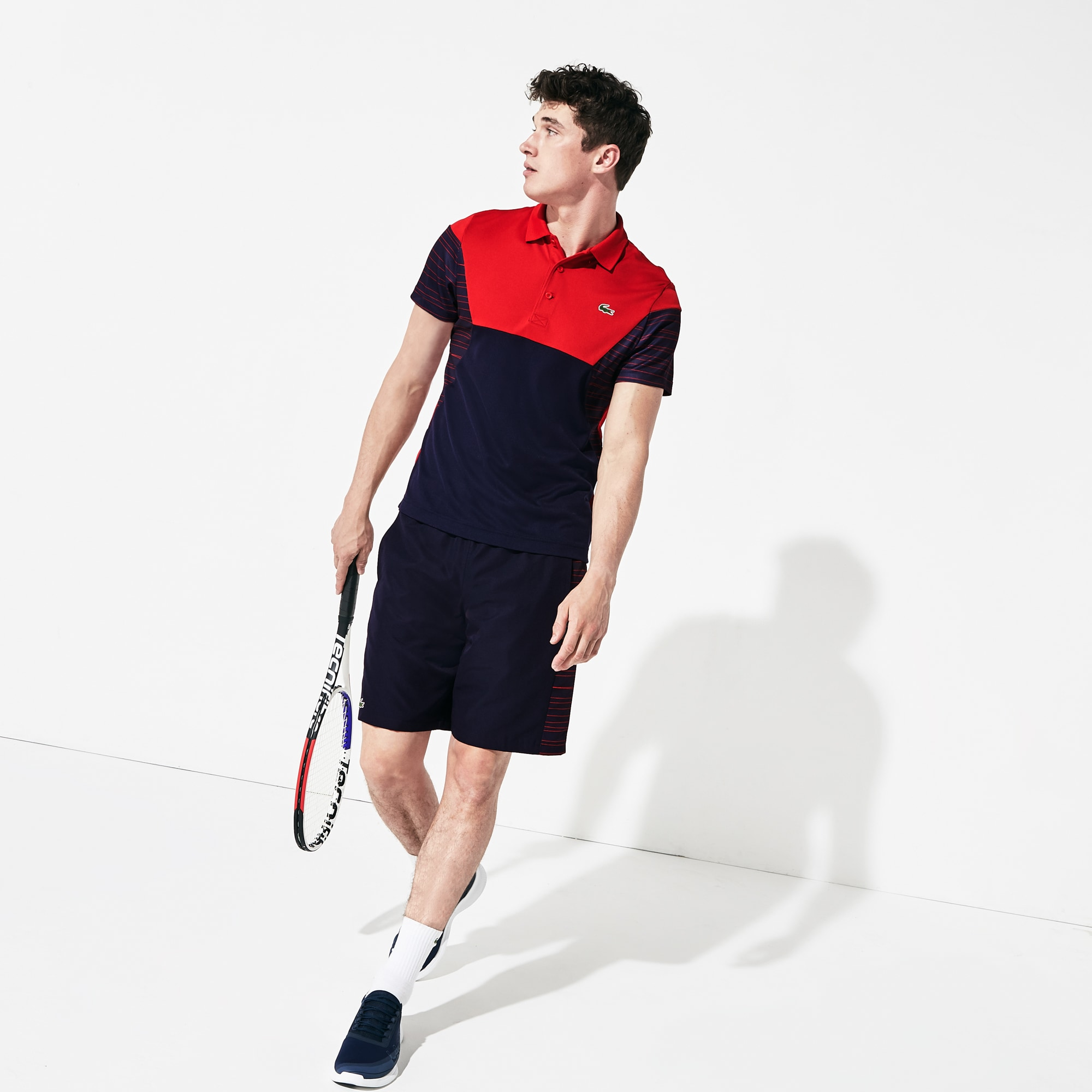 Men's SPORT Color-Blocked Breathable Piqué Tennis Polo Shirt