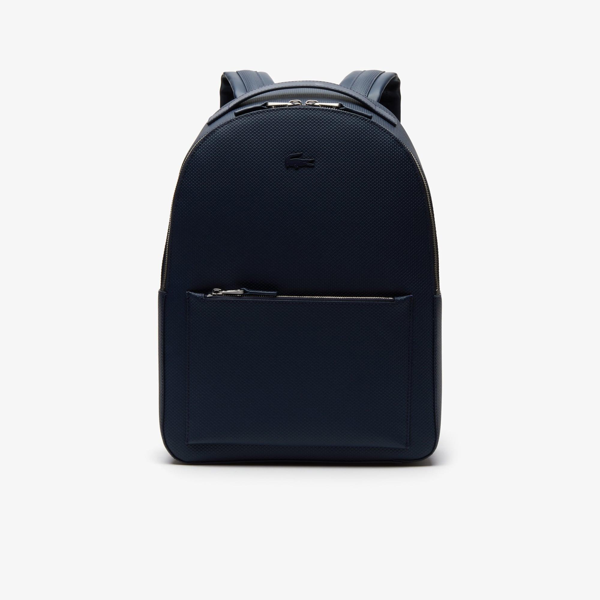 라코스테 샨타코 소프트레더 백팩 Lacoste Mens Chantaco Soft Leather Zip Backpack,PEACOAT