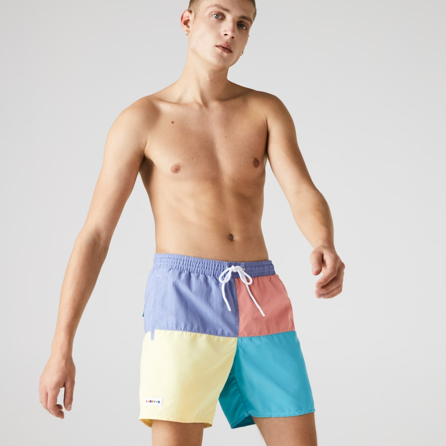 Men's Colorblock Quick-Dry Swim Shorts