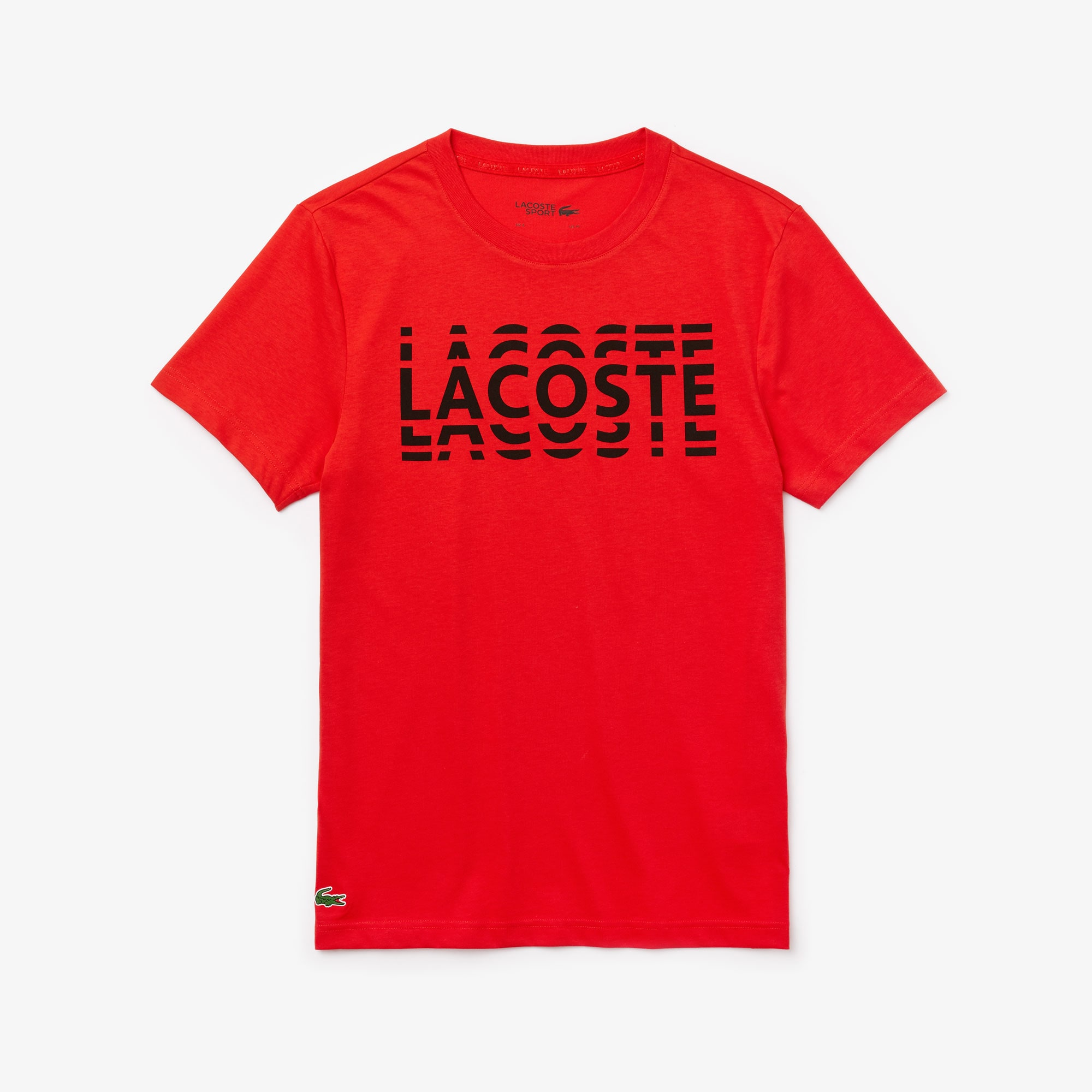 Men's Lacoste SPORT Printed Cotton Blend T-shirt