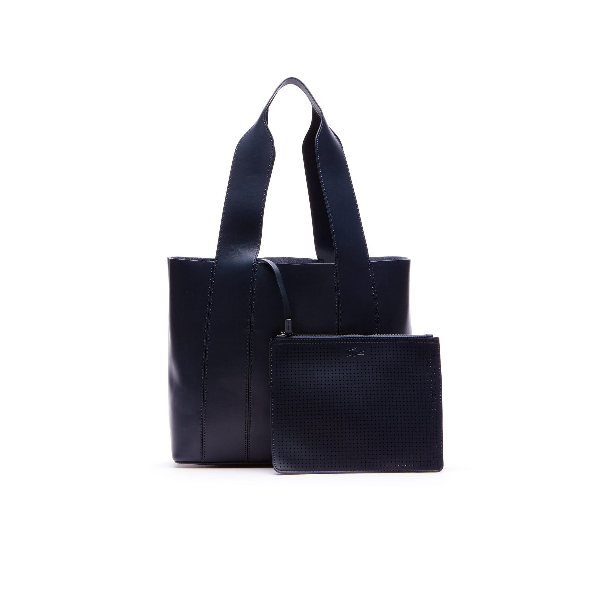 ... Women\u0027s Purity Soft Monochrome Leather Tote Bag