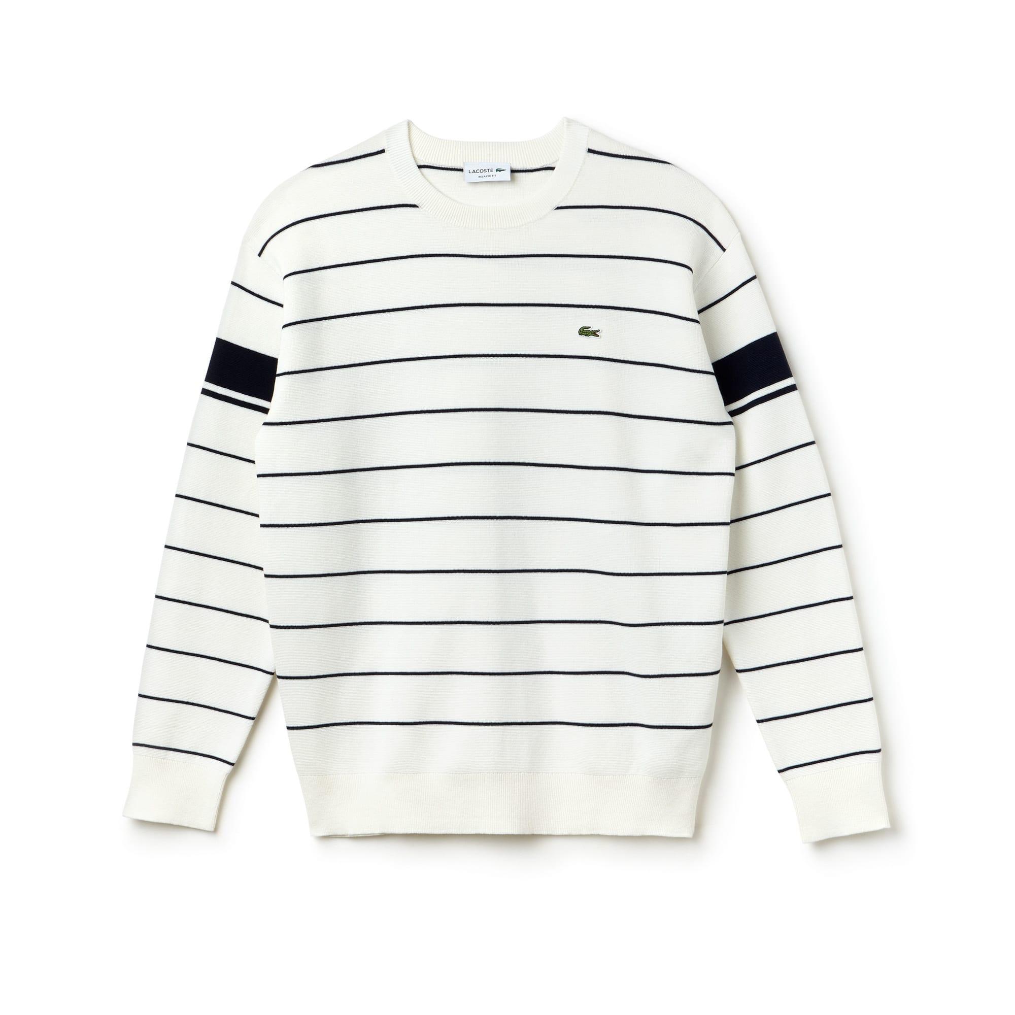 Men's Crew Neck Striped Milano Sweater