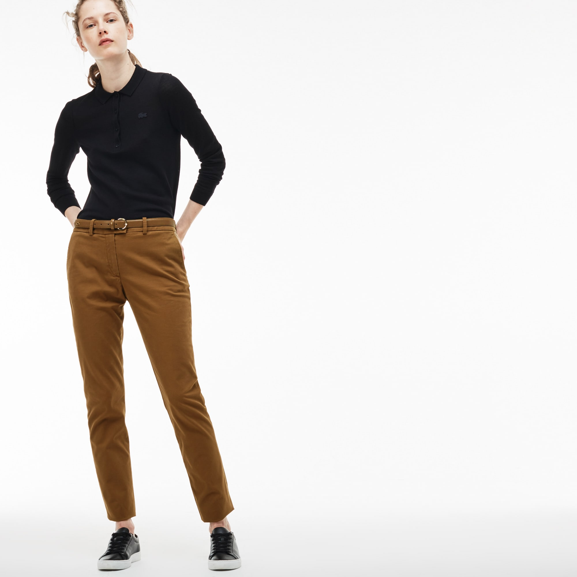 Women's Regular Fit Stretch Cotton Gabardine Chino Pants