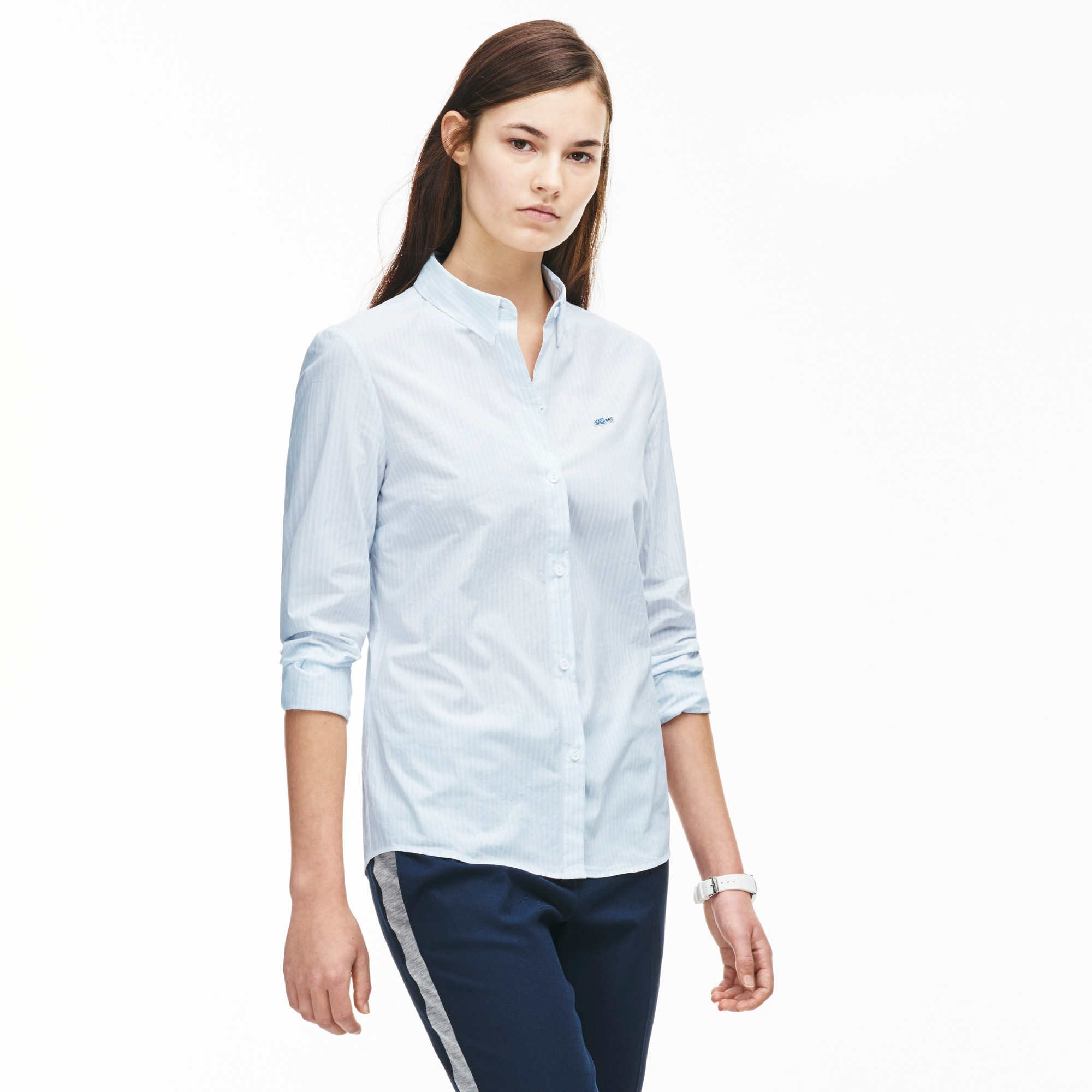 Women's Stripe Cotton Poplin Shirt