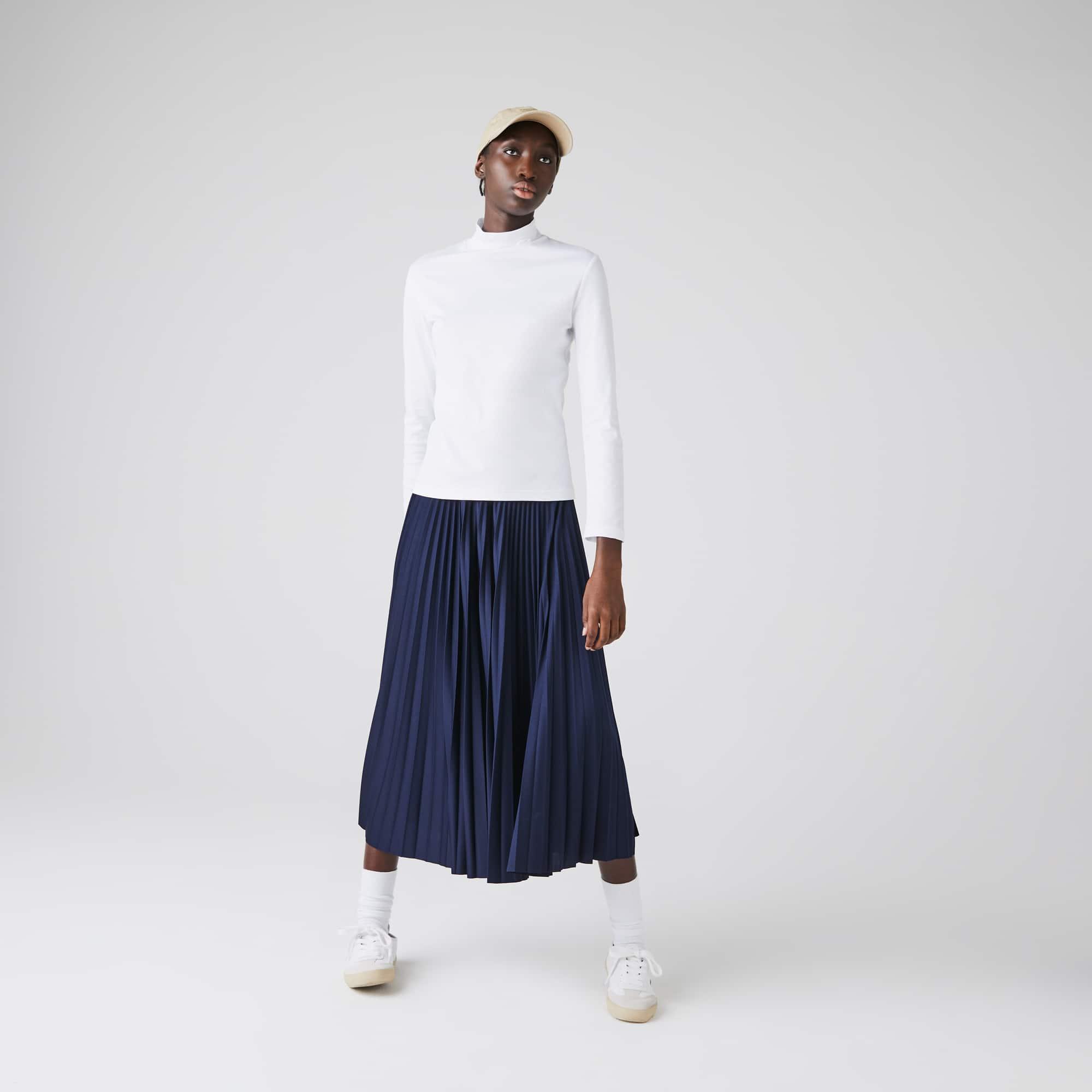 Lacoste Womens Cotton Turtleneck