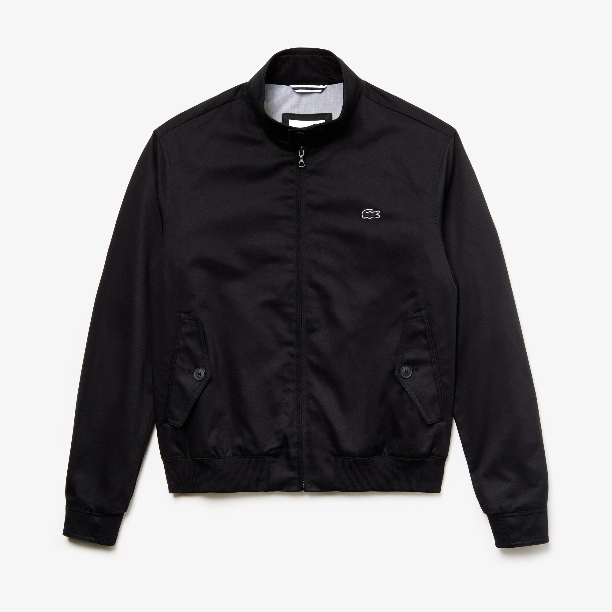Men's Short Zip Cotton Twill Jacket