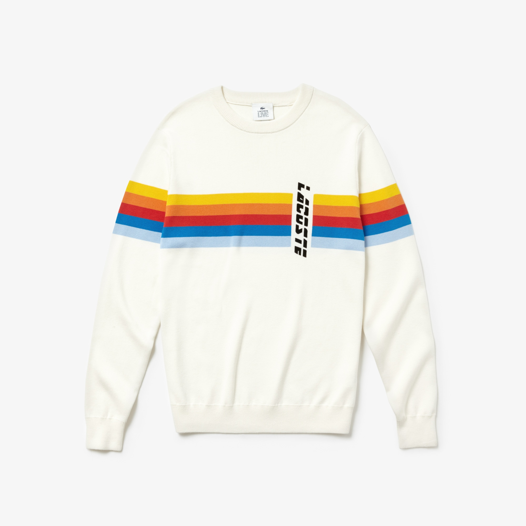 Men's LIVE Crew Neck Cotton Sweater
