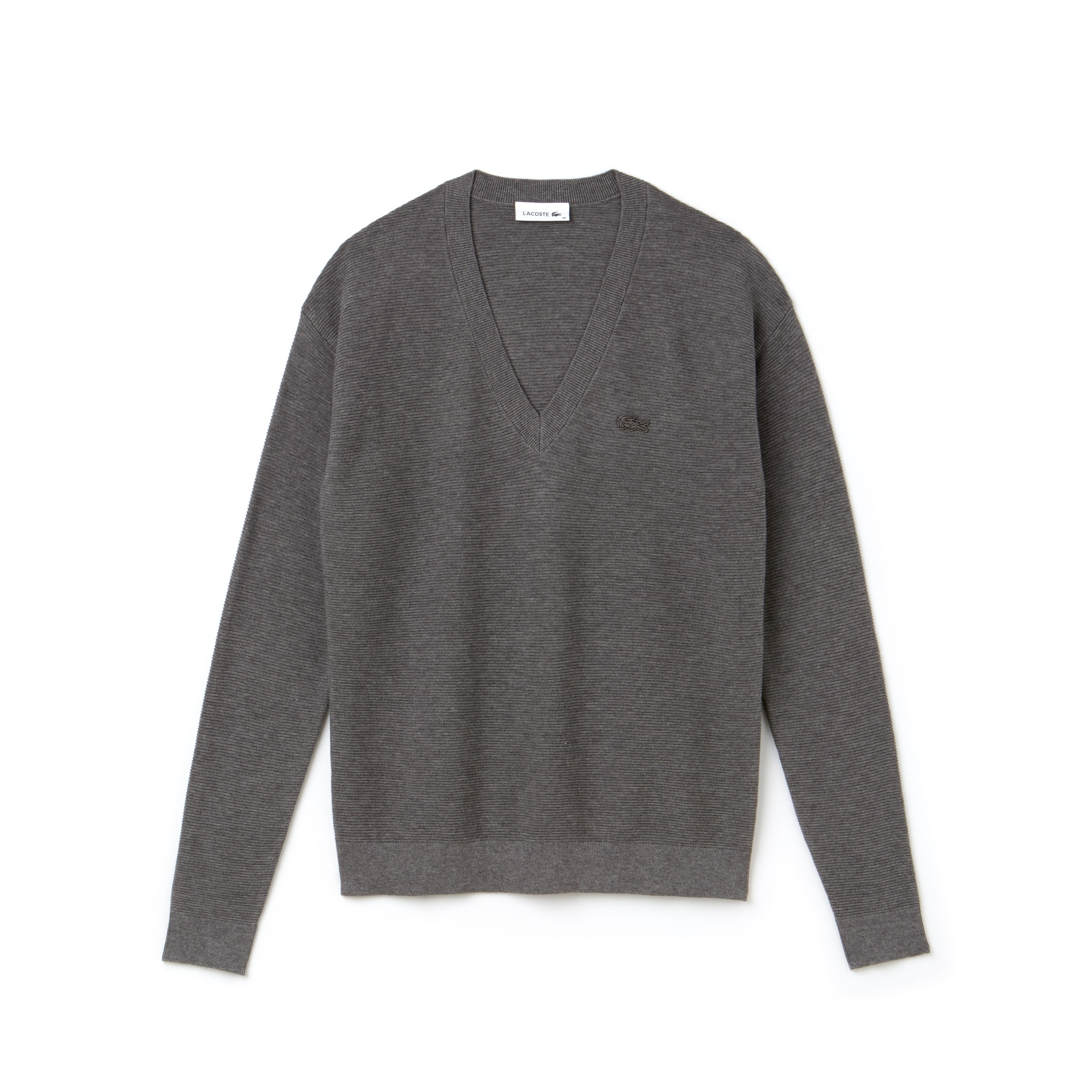 Women's V-neck Seed Stitch Cotton Sweater
