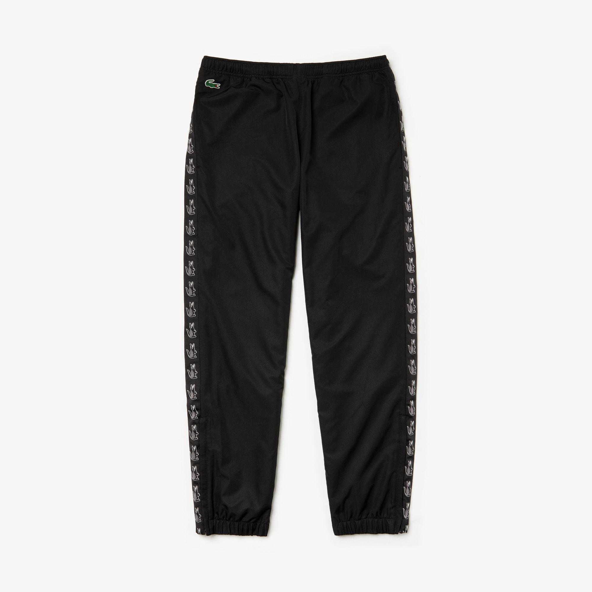 라코스테 스포츠 테니스 스웻 팬츠 Lacoste Mens SPORT Band Tennis Sweatpants,Black / Black