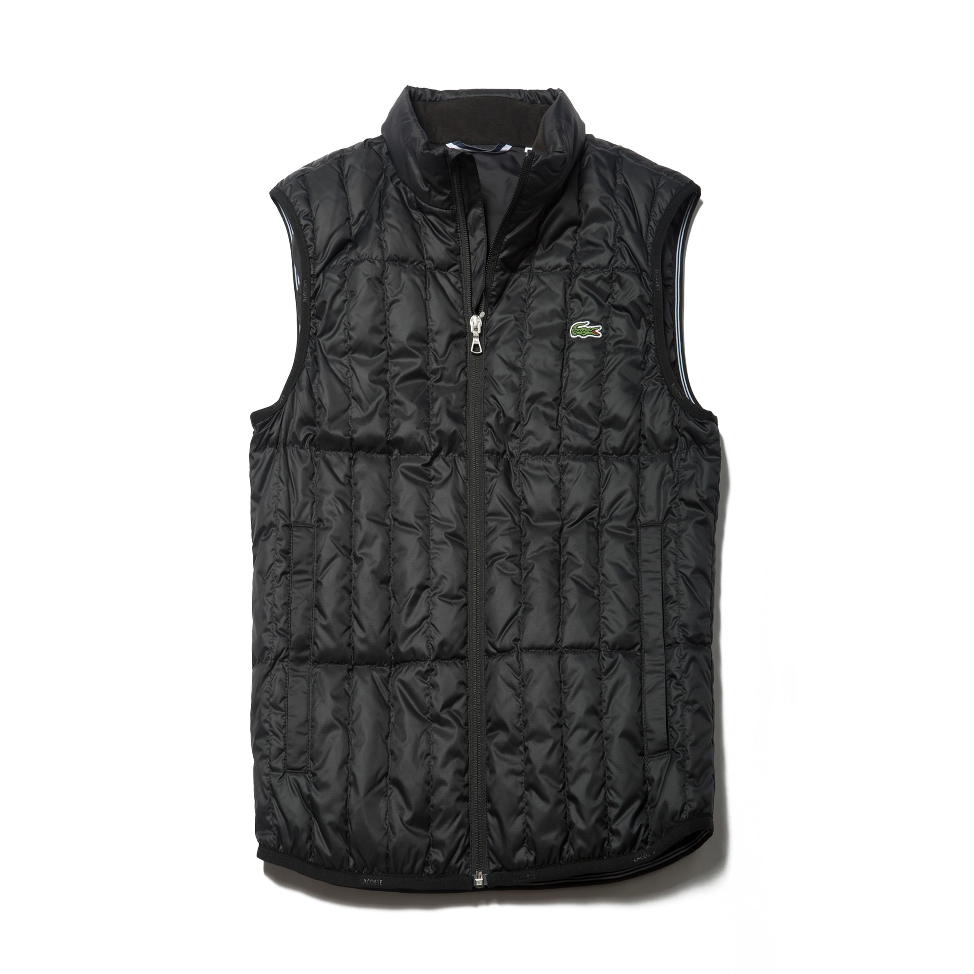 라코스테 Lacoste Mens SPORT Golf Water-resistant Quilted Vest,ocean/navy blue